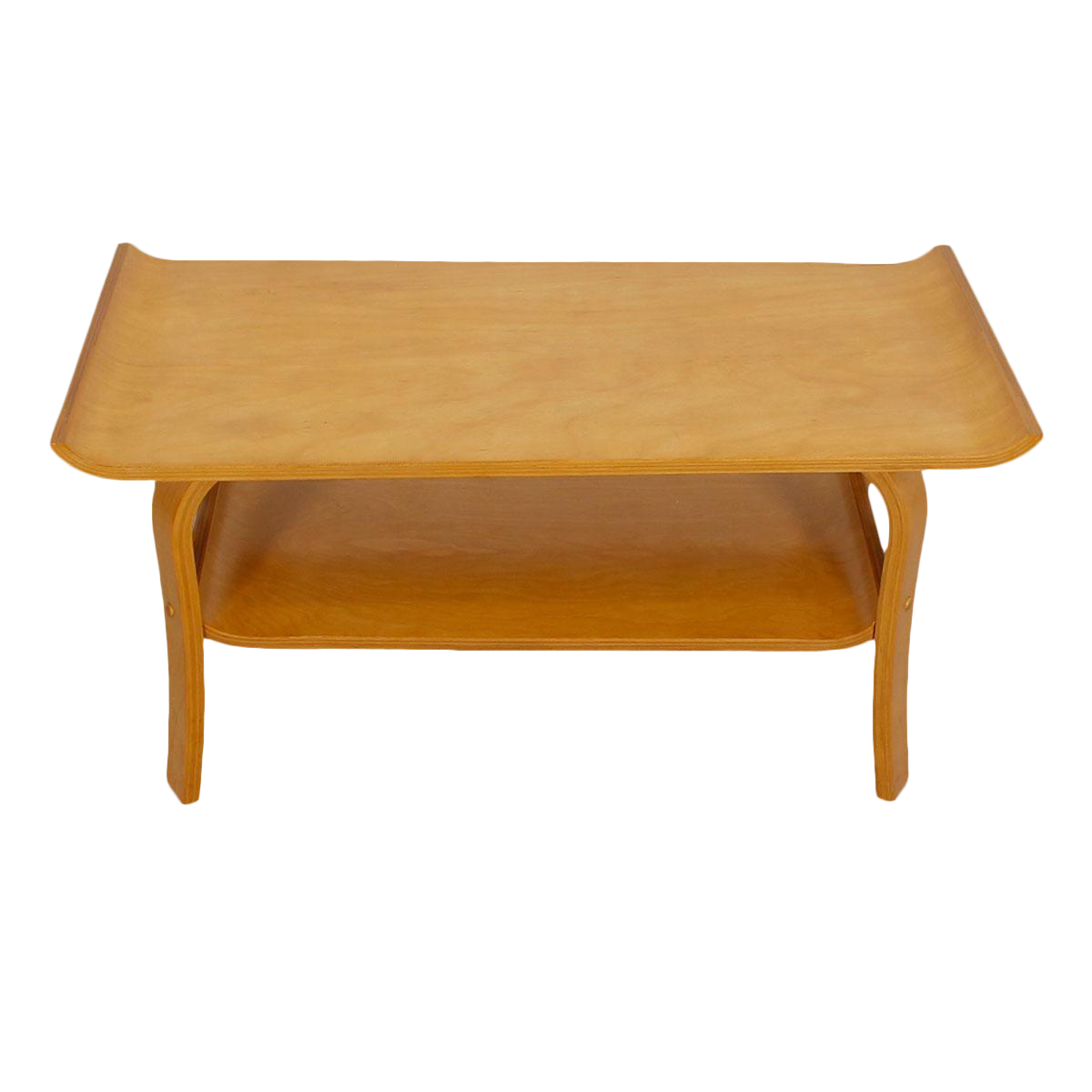 Mid century modern bentwood coffee table in birch with shelf mid century modern bentwood coffee table in birch with shelf chairish geotapseo Gallery