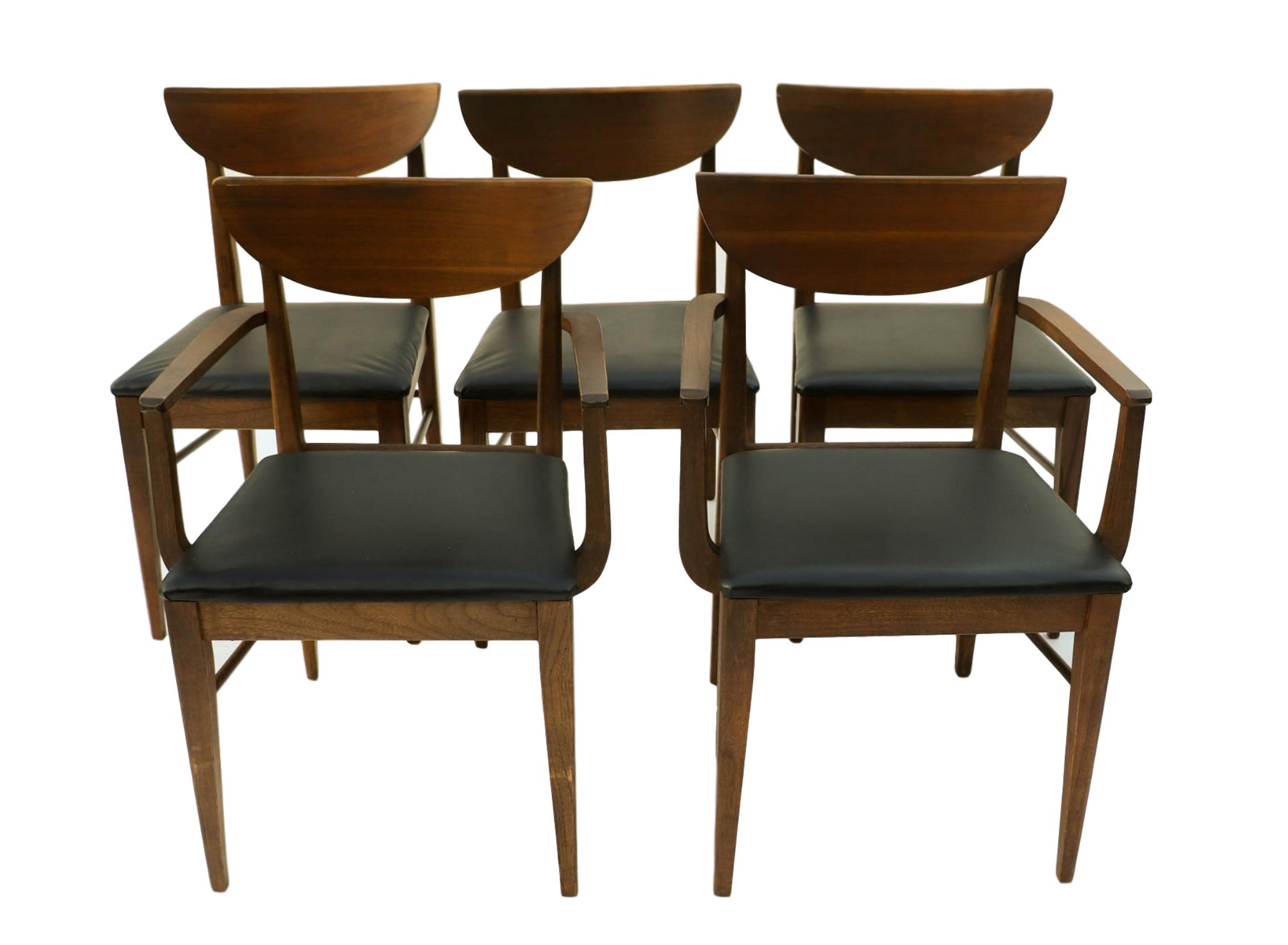 Mid Century Modern Bassett Dining Chairs S 5
