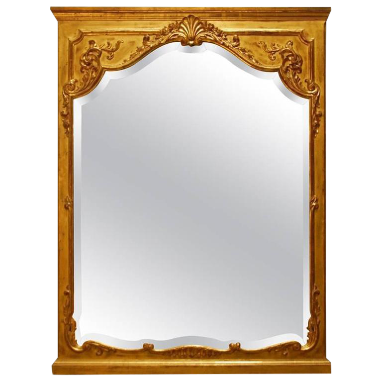 French Louis Xv Carved Giltwood Trumeau Mirror Chairish