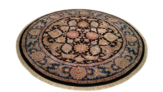 8′ × 8′ Traditional Round Handmade Knotted Rug