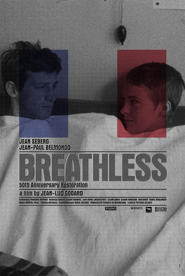 Godard S Breathless Original Movie Poster Design By