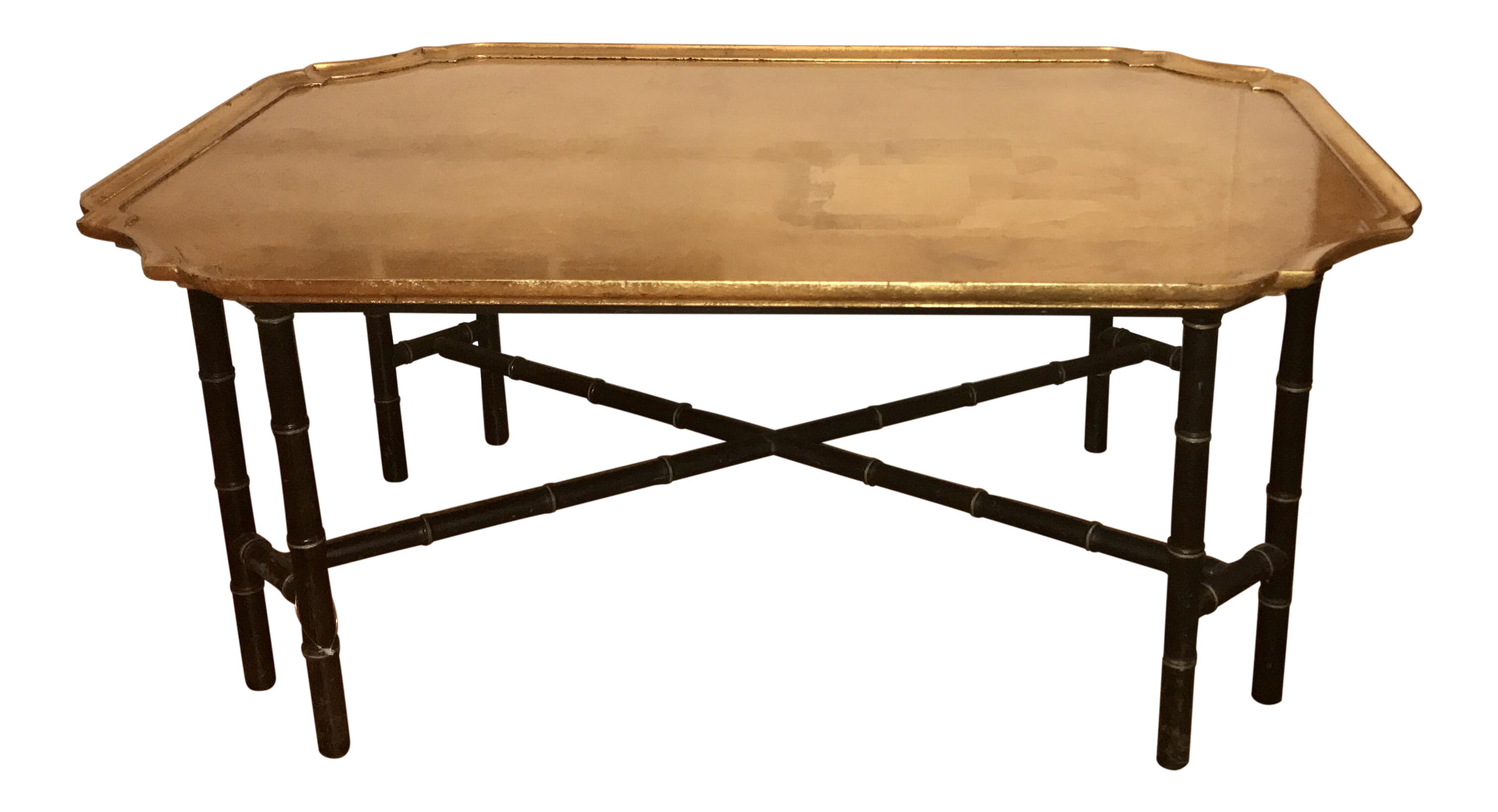 Kittinger Furniture Co Faux Bamboo Gilt Coffee Table