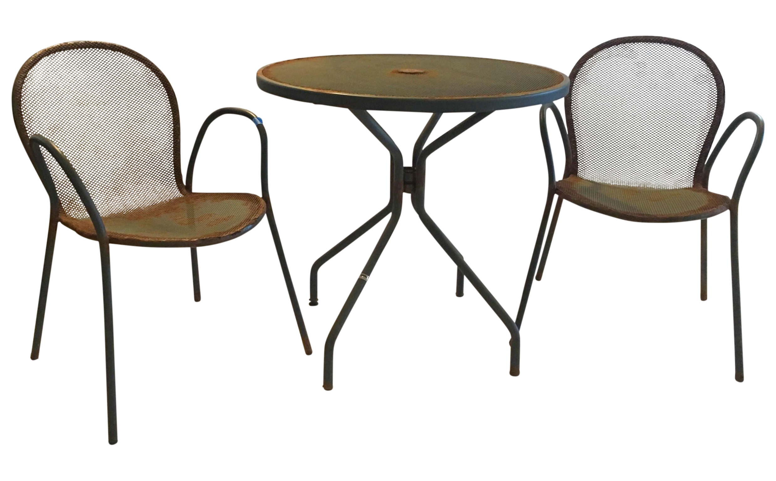 Cafe tables and chairs png - Image Of Vintage Cafe Table Chairs Set Of 3