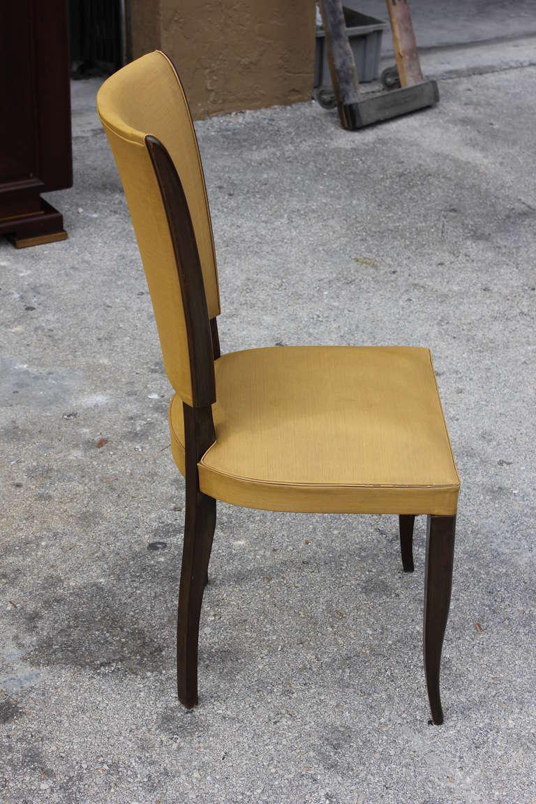 French classic chairs - Image Of Set Of Six French Art Deco Dark Mahogany Dining Chairs Classic Style