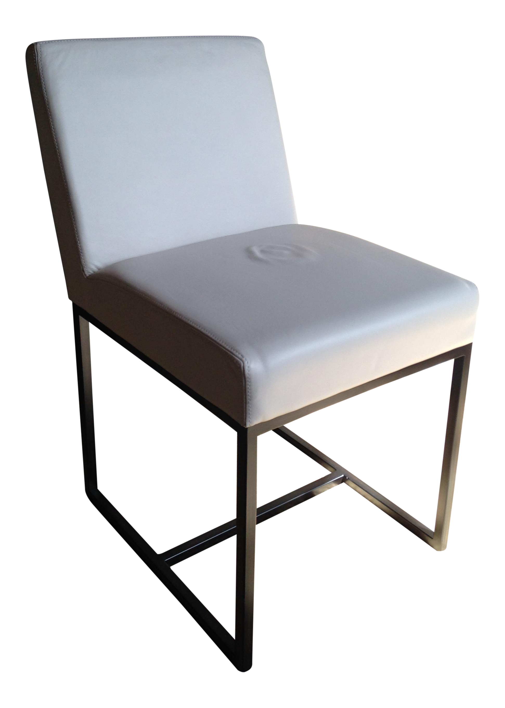 RH Emery Track Arm Leather Side Chair