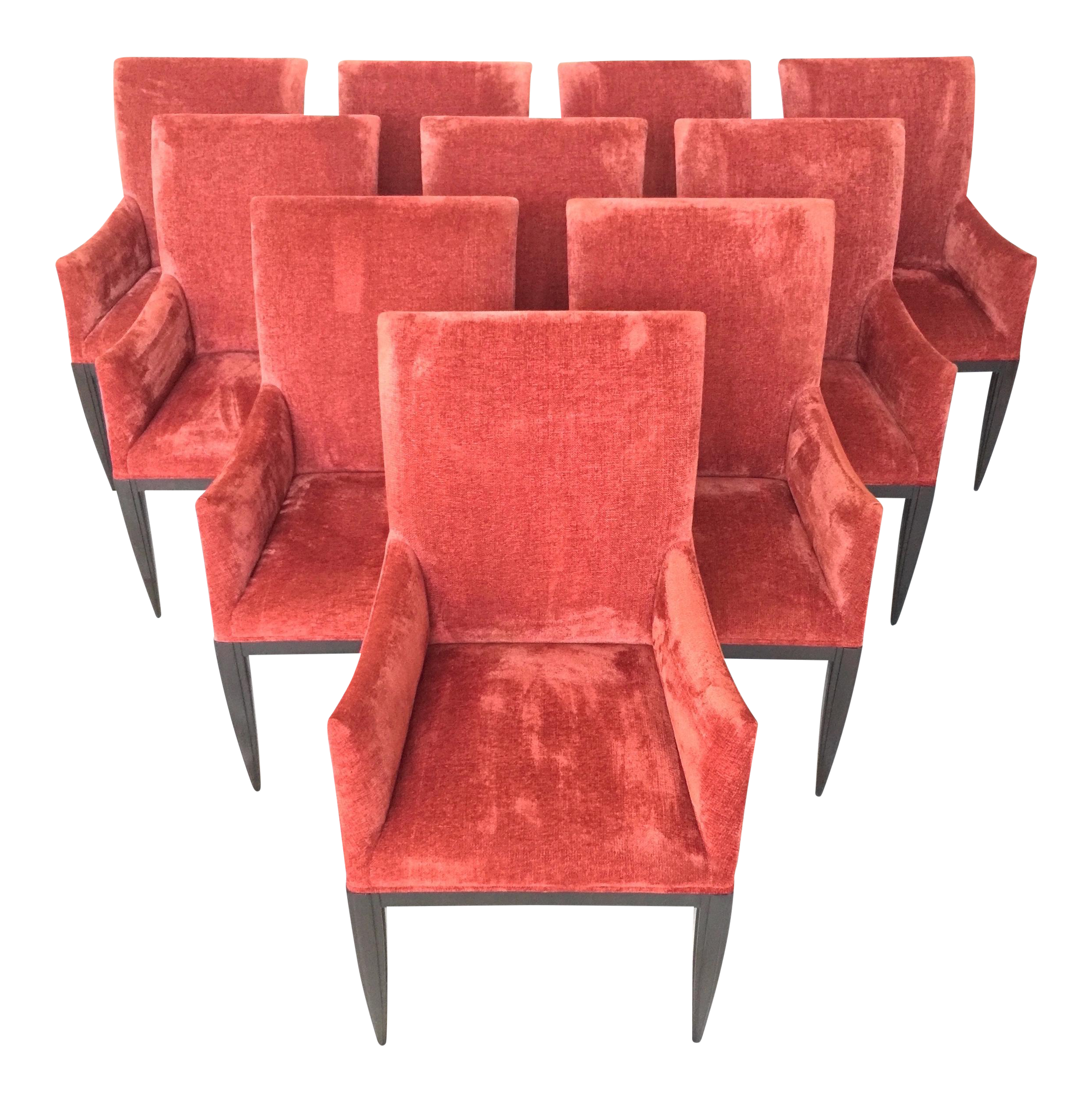 Luxurious Dessin Fournir Werth Contemporary Red Dining Armchairs