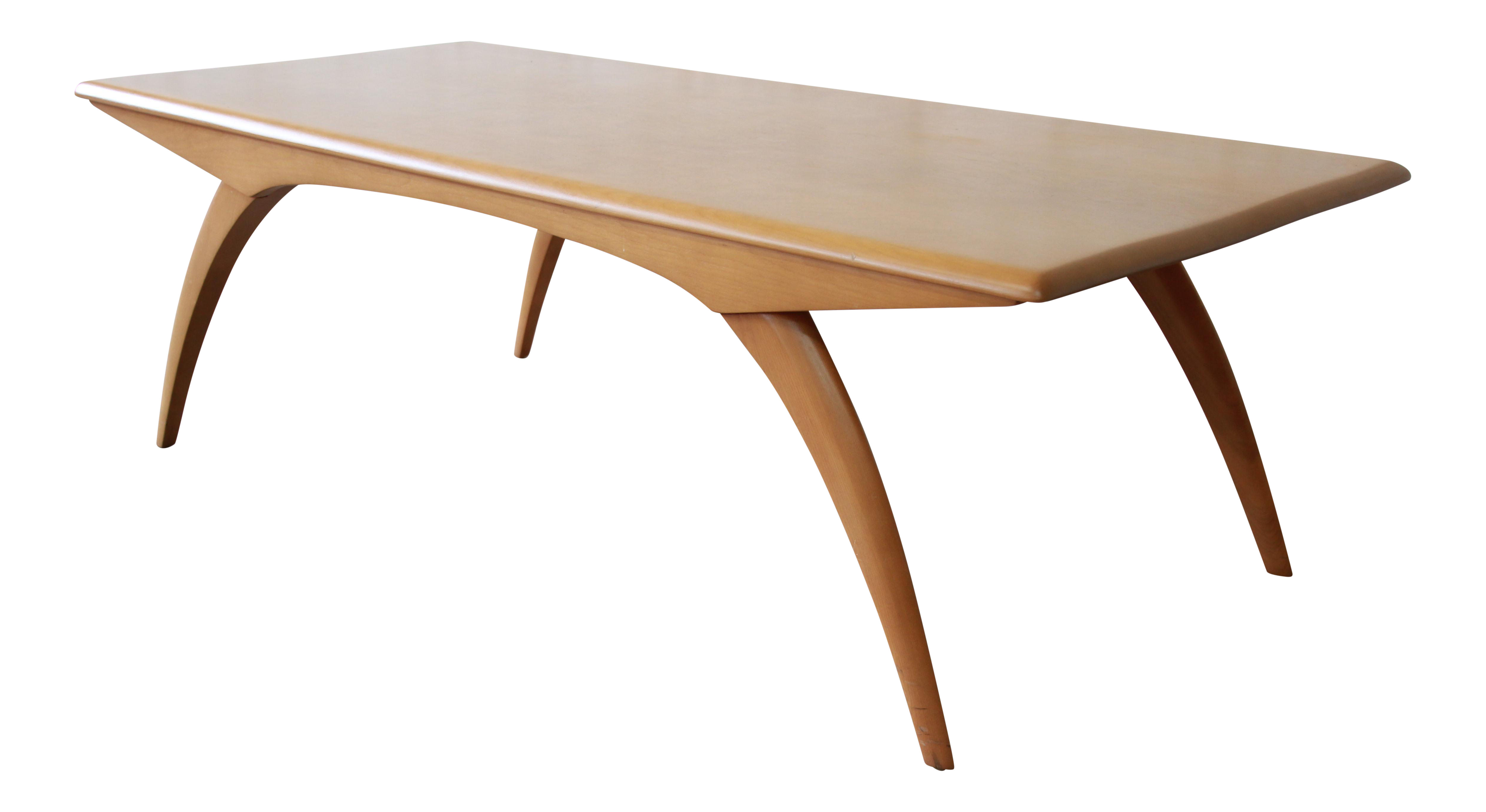Heywood wakefield mid century modern wishbone coffee table chairish geotapseo Image collections