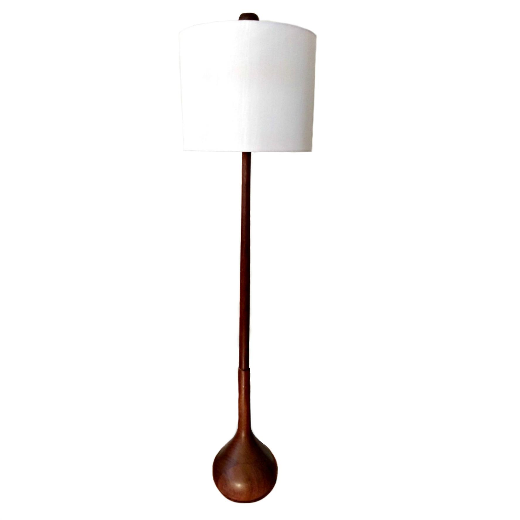 ^ Mid-entury Danish Modern eak eardrop Floor Lamp hairish