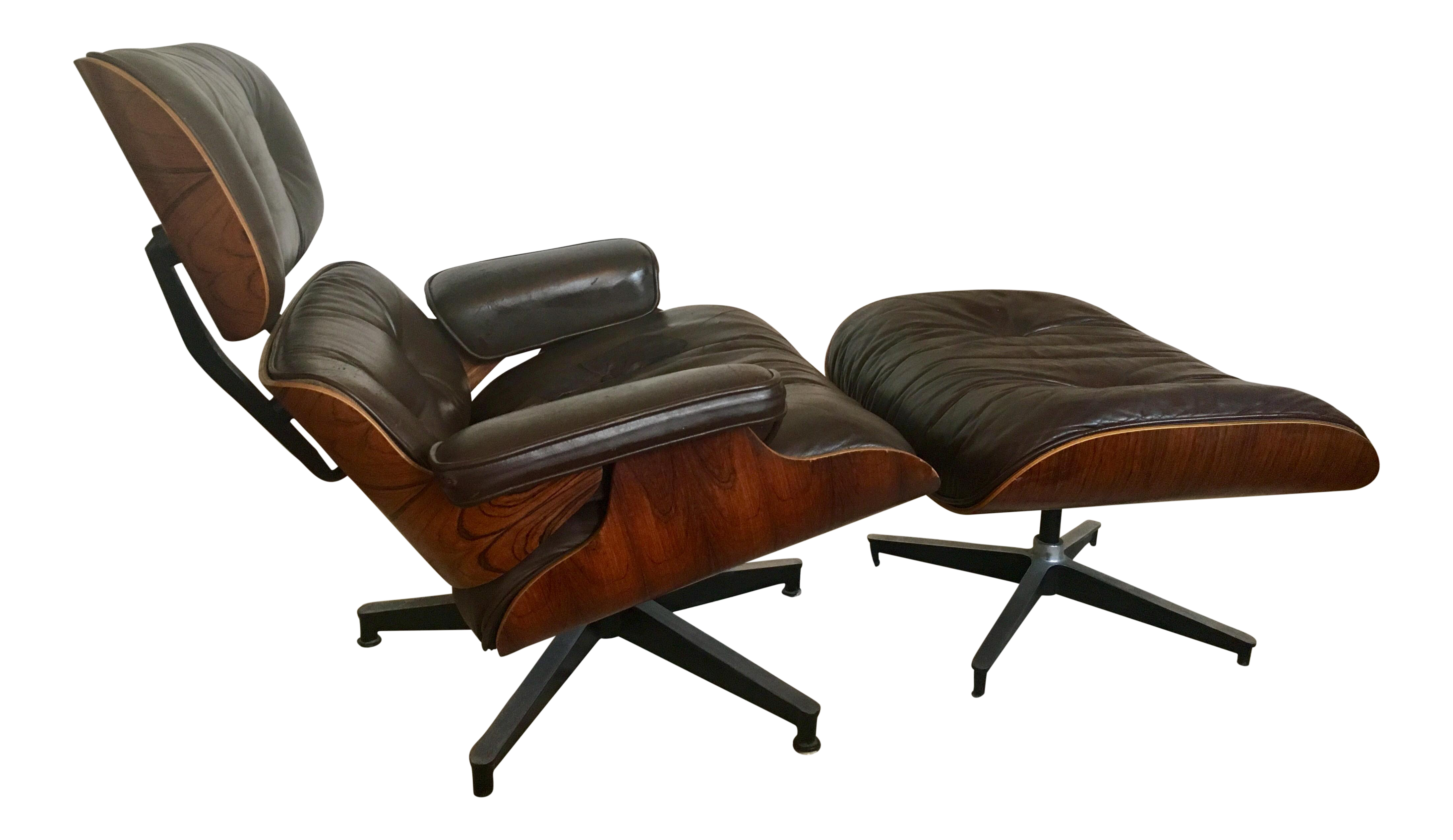 Rosewood Charles Eames for Herman Miller Lounge Chair & Ottoman