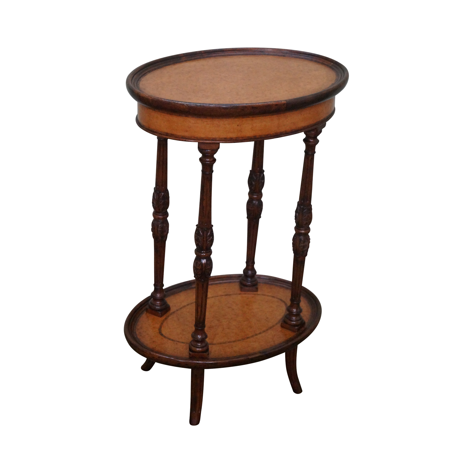 Jonathan Charles Mahogany 2 Tier Side Table Chairish
