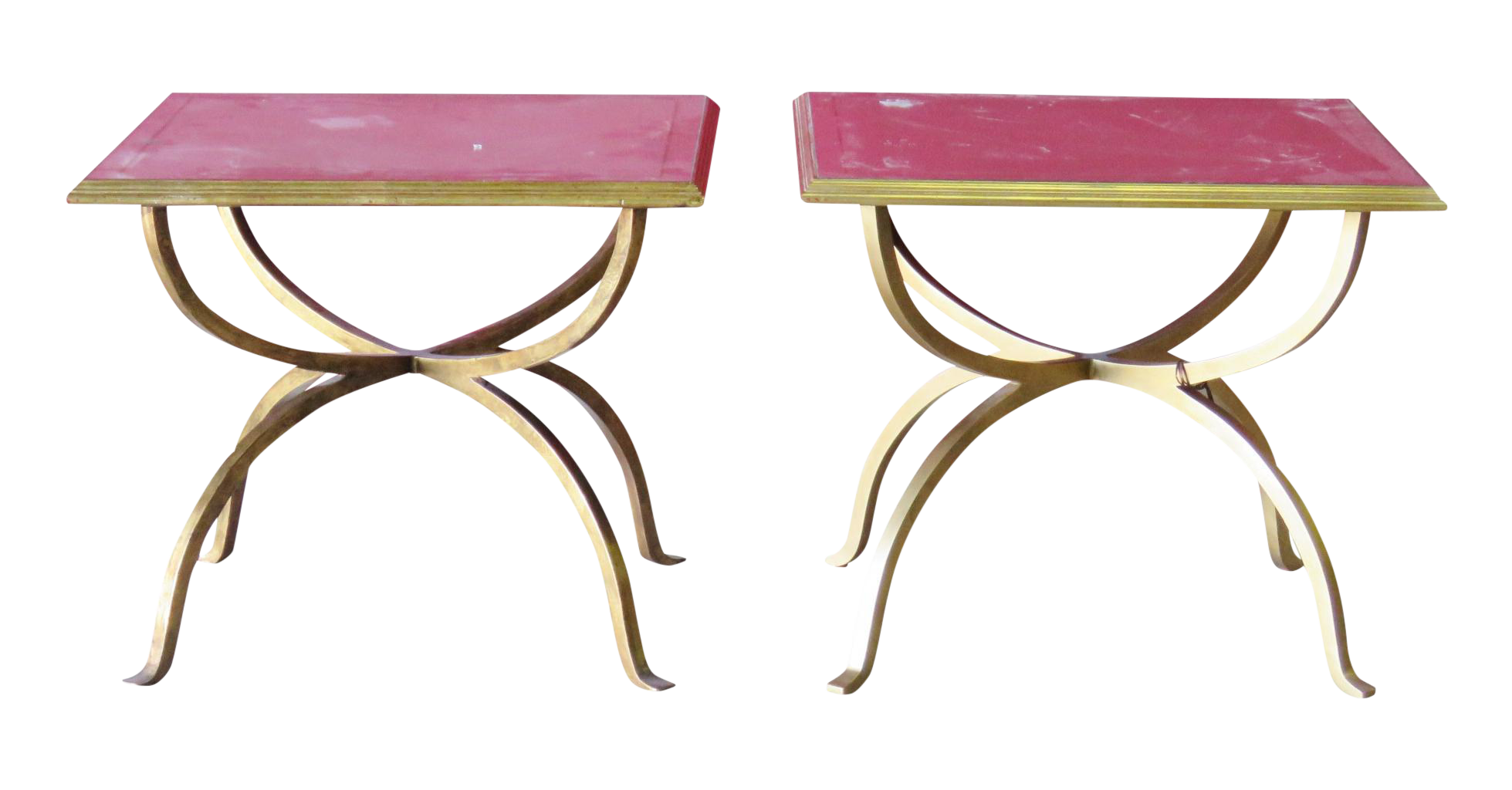 Jonathan Charles Gilt Amp Eglomised Glass Top Side Tables A