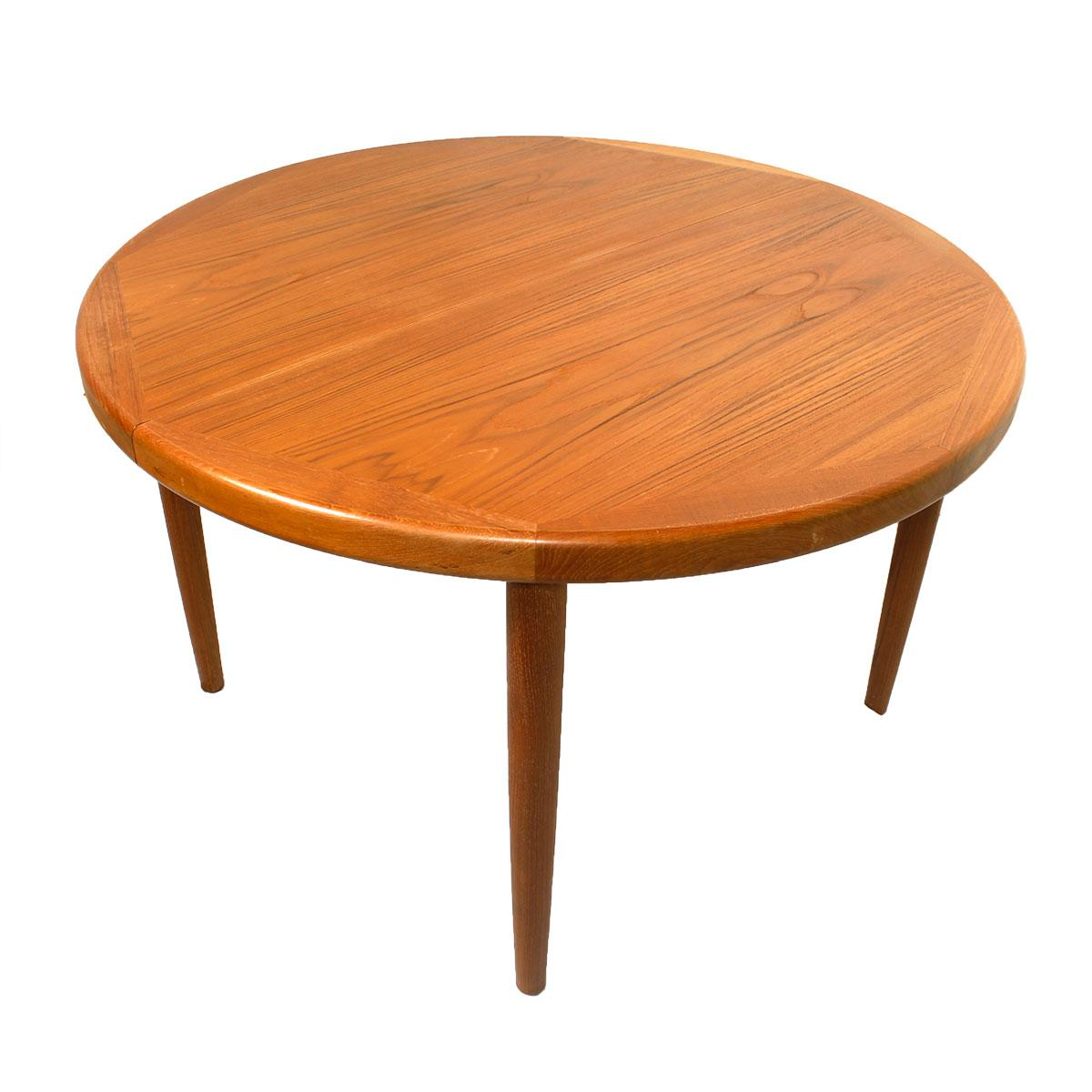 Dining Room Pads For Table: Danish Teak Round/Oval Dining Table & Pads