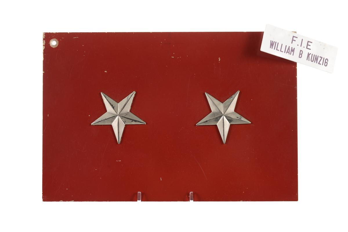 2 Stars General Military Jeep License Plate Chairish