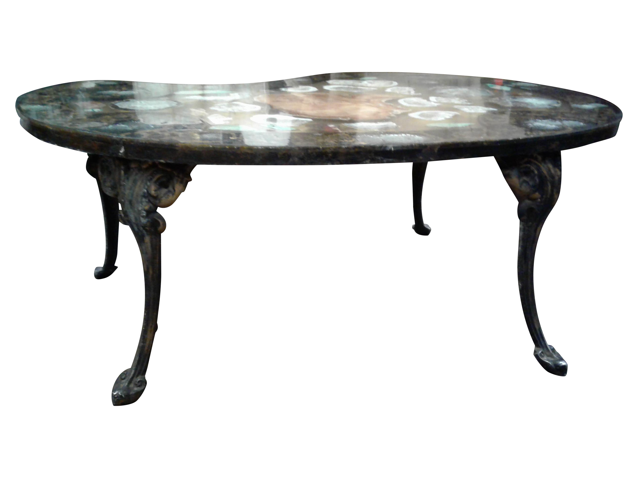 Petrified Wood & Mineral Coffee Table