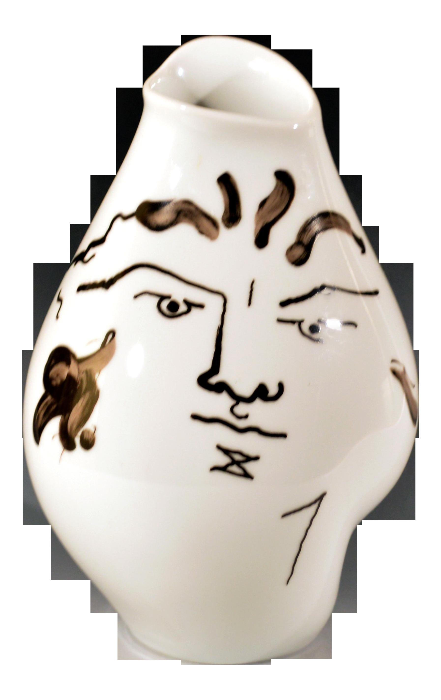 Vintage jean cocteau porcelain vase by rosenthal chairish for Sofa global 6450