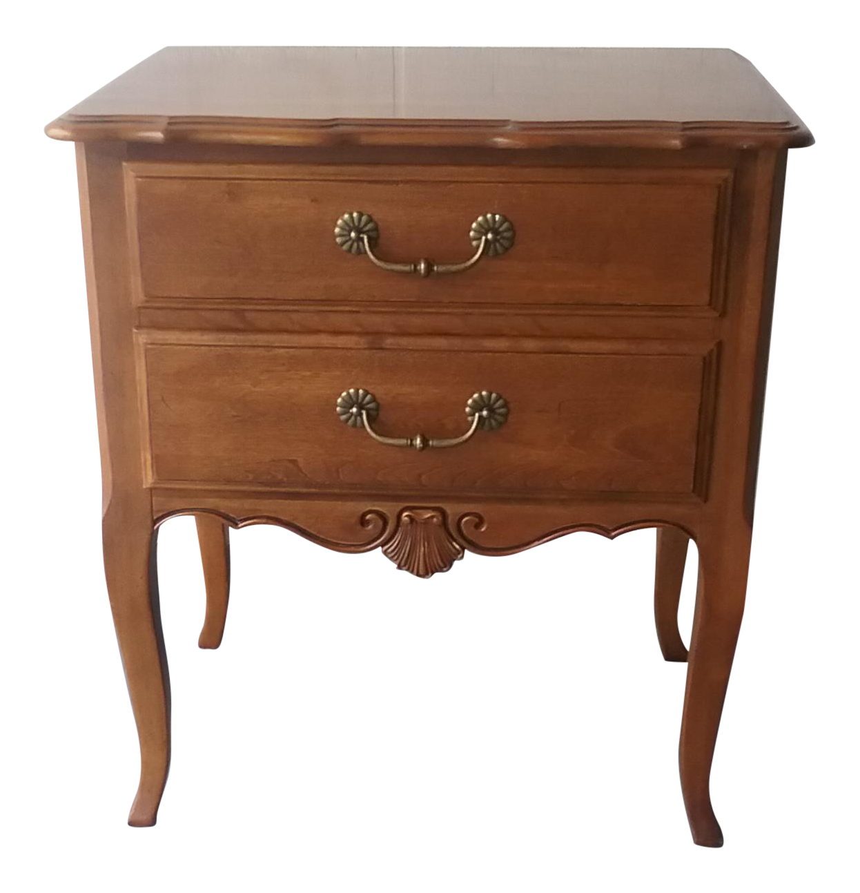 Ethan allen french country nightstand chairish for Ethan allen french country bedroom furniture