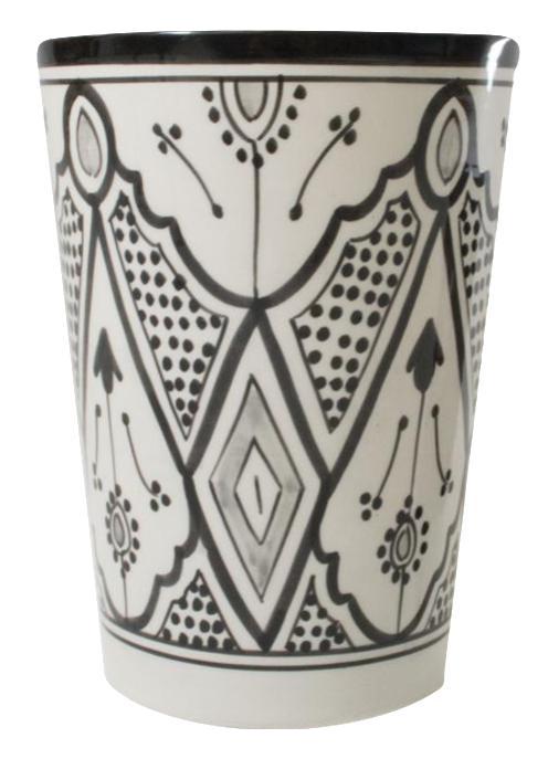 Black Amp White Ceramic Vase Chairish