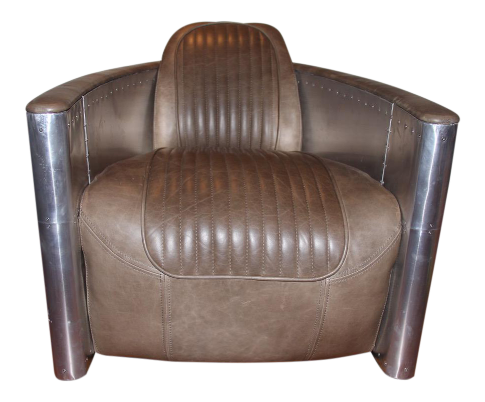 Restoration hardware chairs leather wingback chair for Restoration hardware metal chair