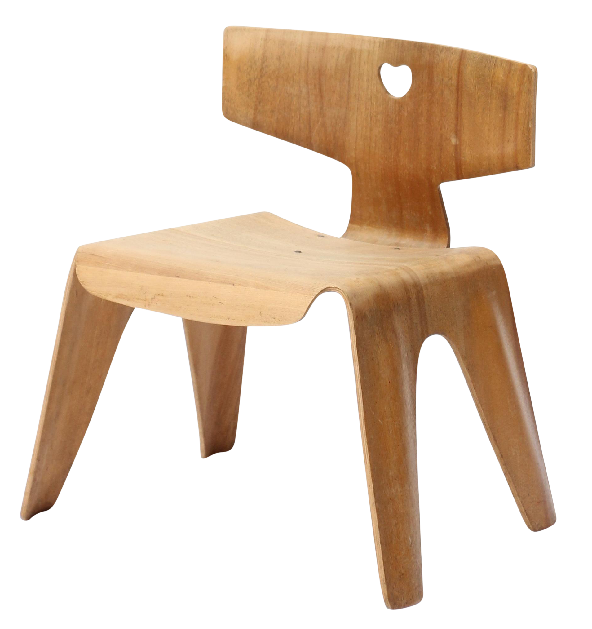 Vintage Eames Molded Plywood Child Chair
