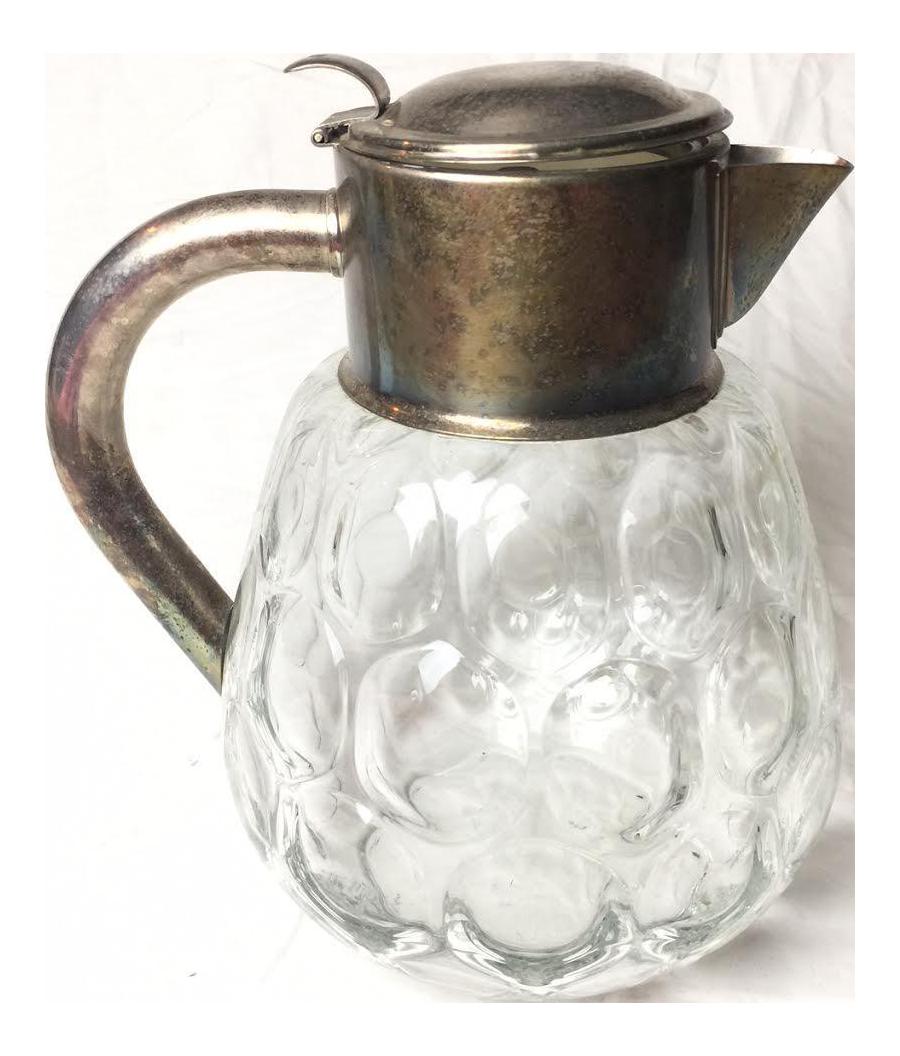 1960s vintage hand blown glass pitcher chairish