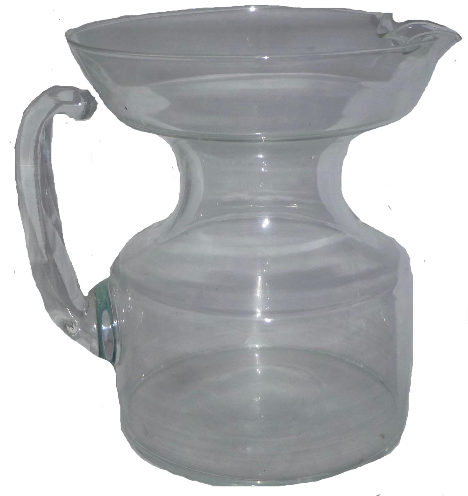 mid century modern glass pitcher  chairish - image of mid century modern glass pitcher