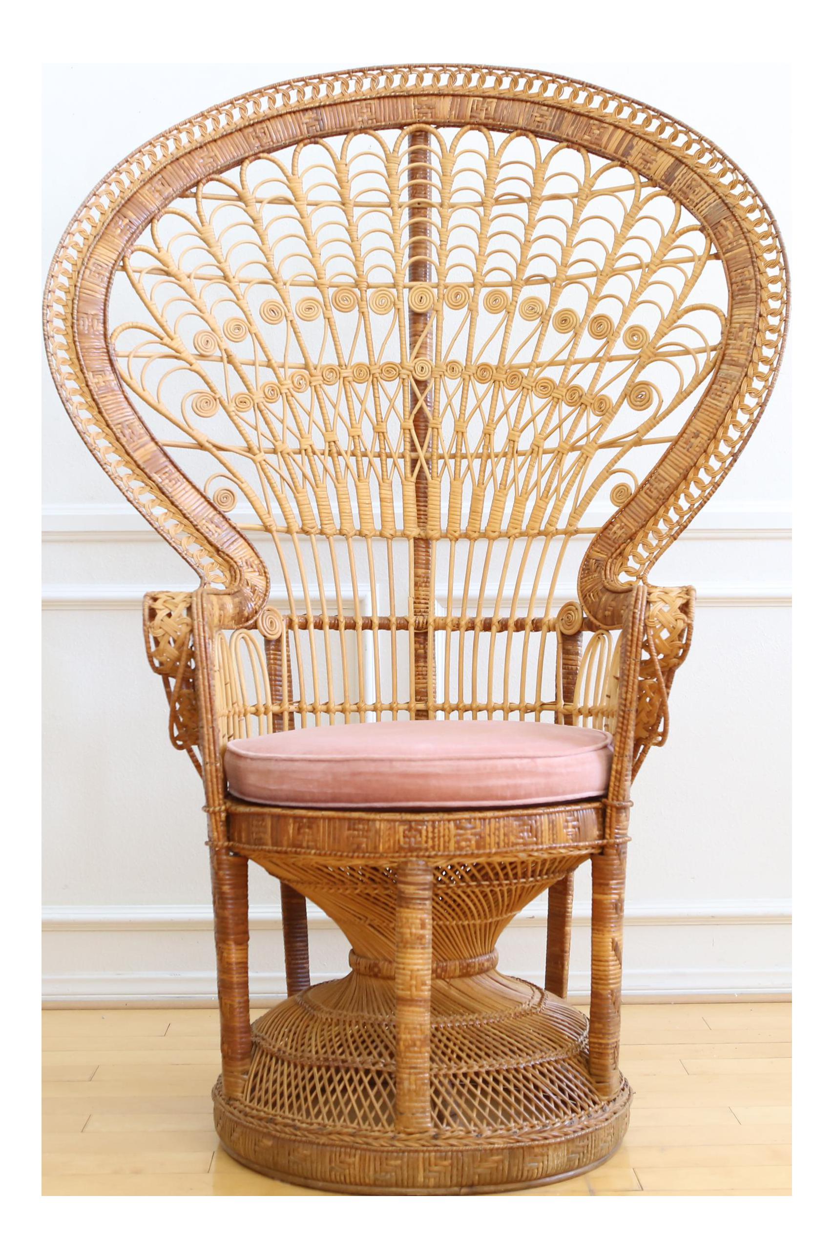 Vintage rattan chair - Vintage Rattan Chair 23
