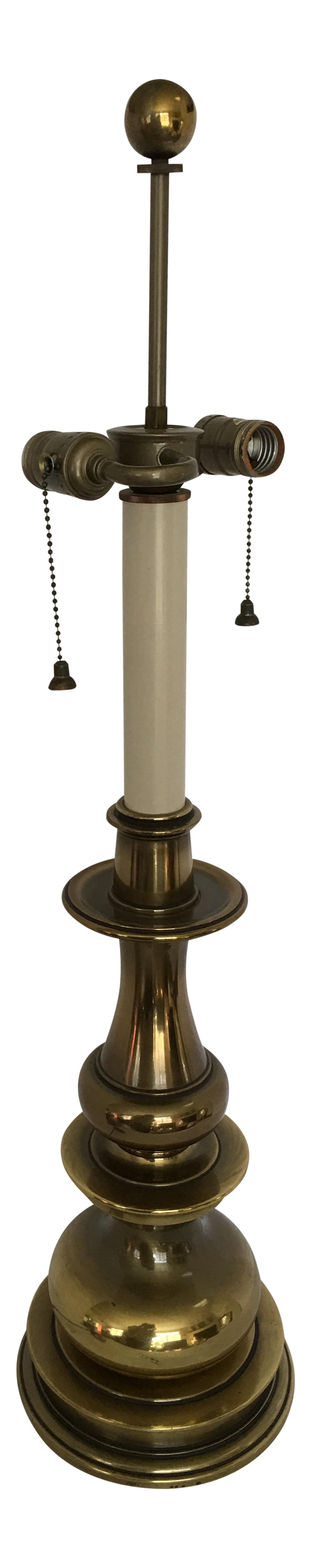 Vintage stiffel brass table lamps - Image Of Vintage Stiffel Brass Baluster Double Socket Table Lamp