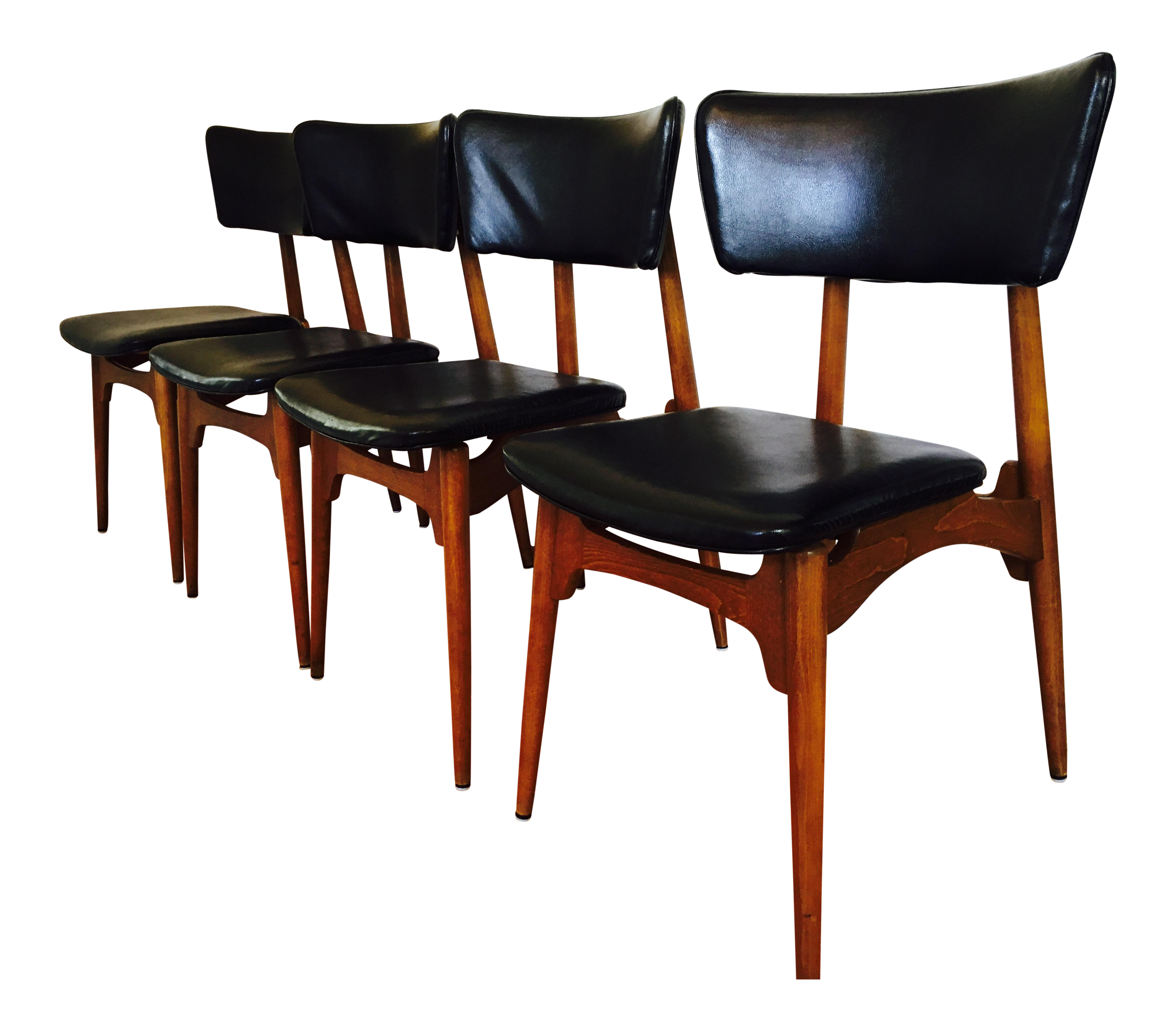 image of defco midcentury modern dining chairs set of 4