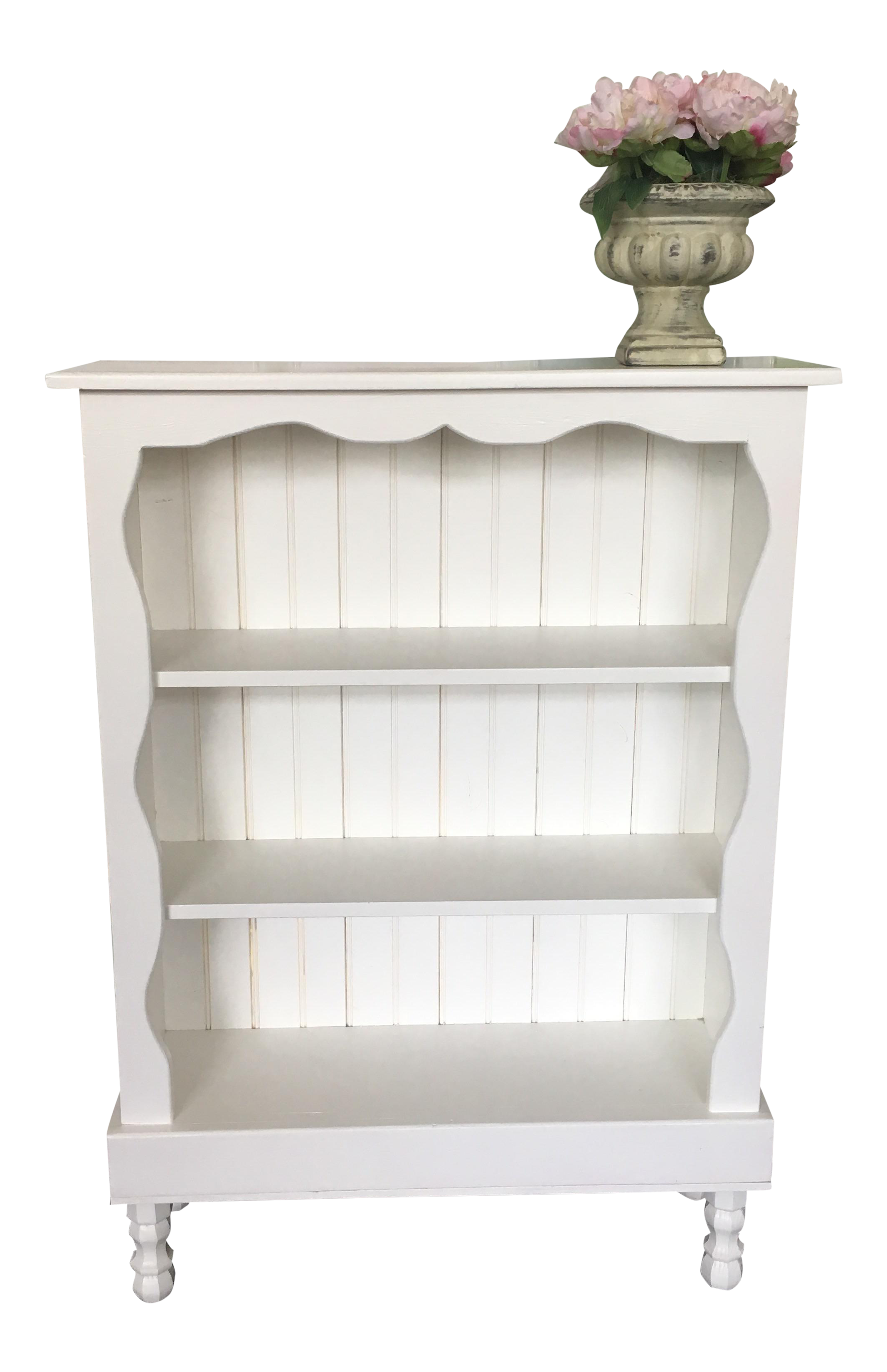 Shabby Chic White Bookcase Chairish