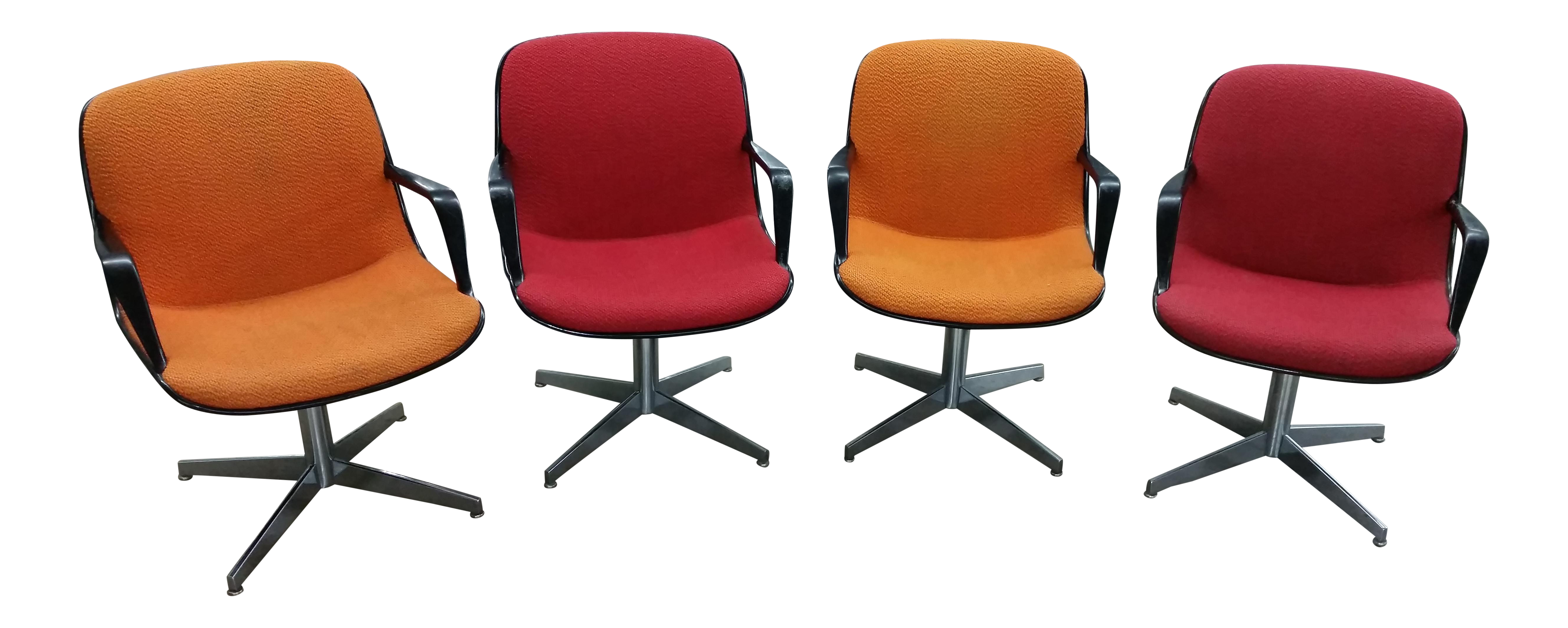 Charles Pollock Steelcase fice Chairs Set of 4