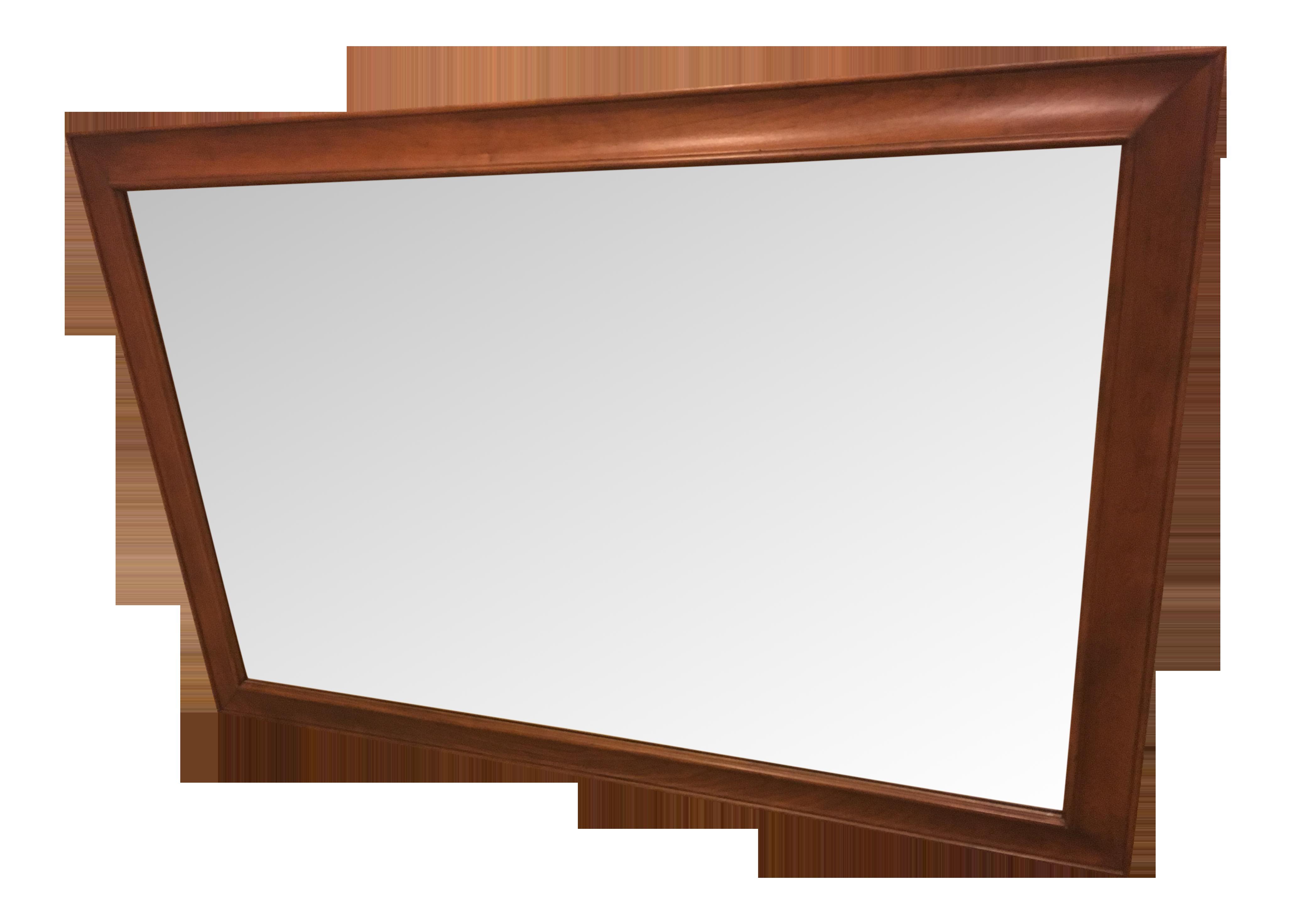 Cherry framed mirror