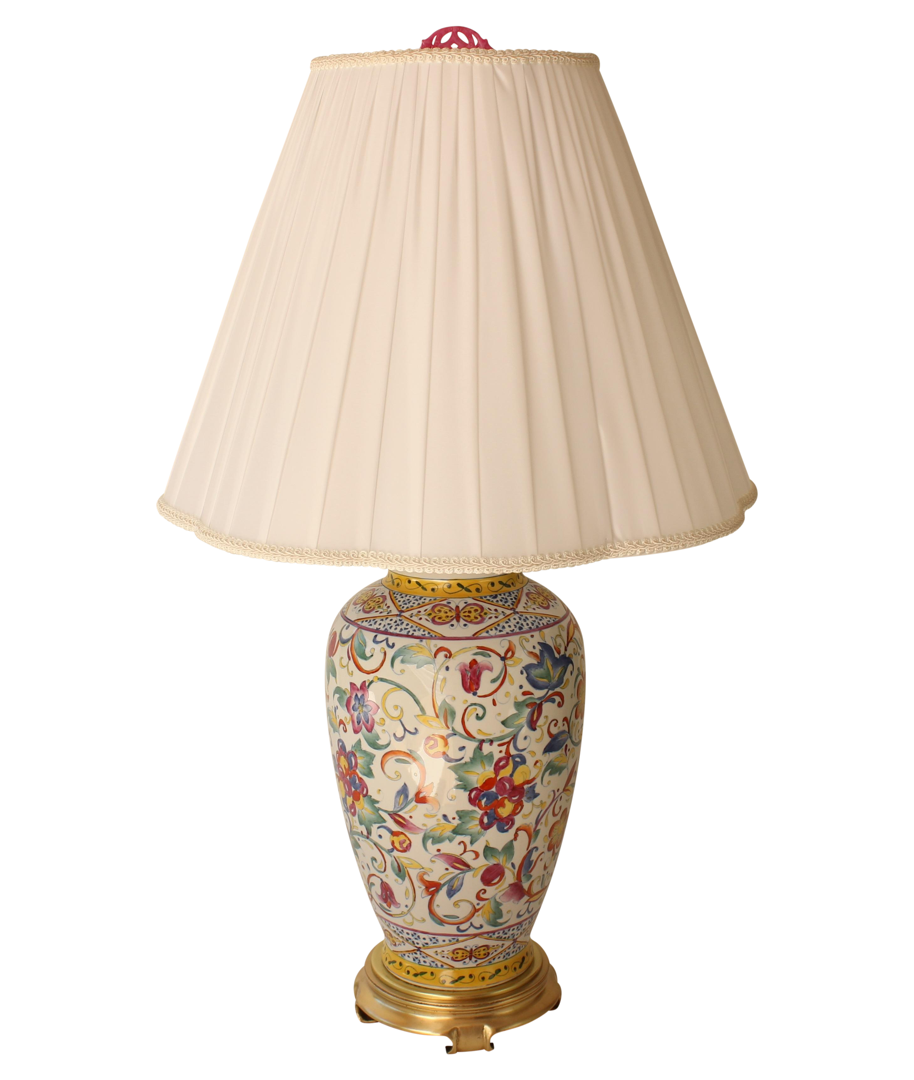 Frederick cooper floral table lamp chairish geotapseo Image collections
