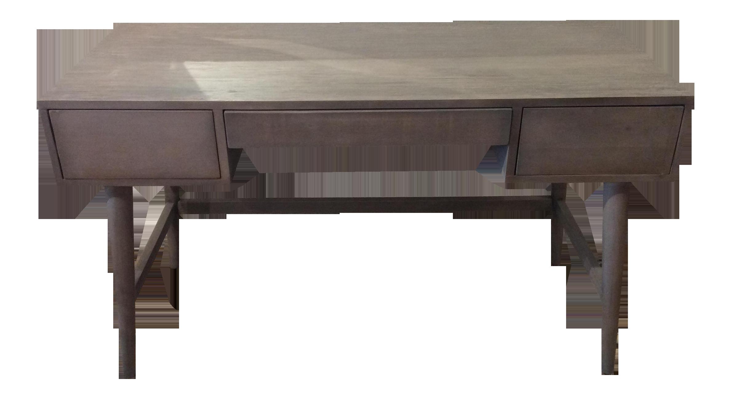 weathered grey midcentury modern style desk  chairish - image of weathered grey midcentury modern style desk