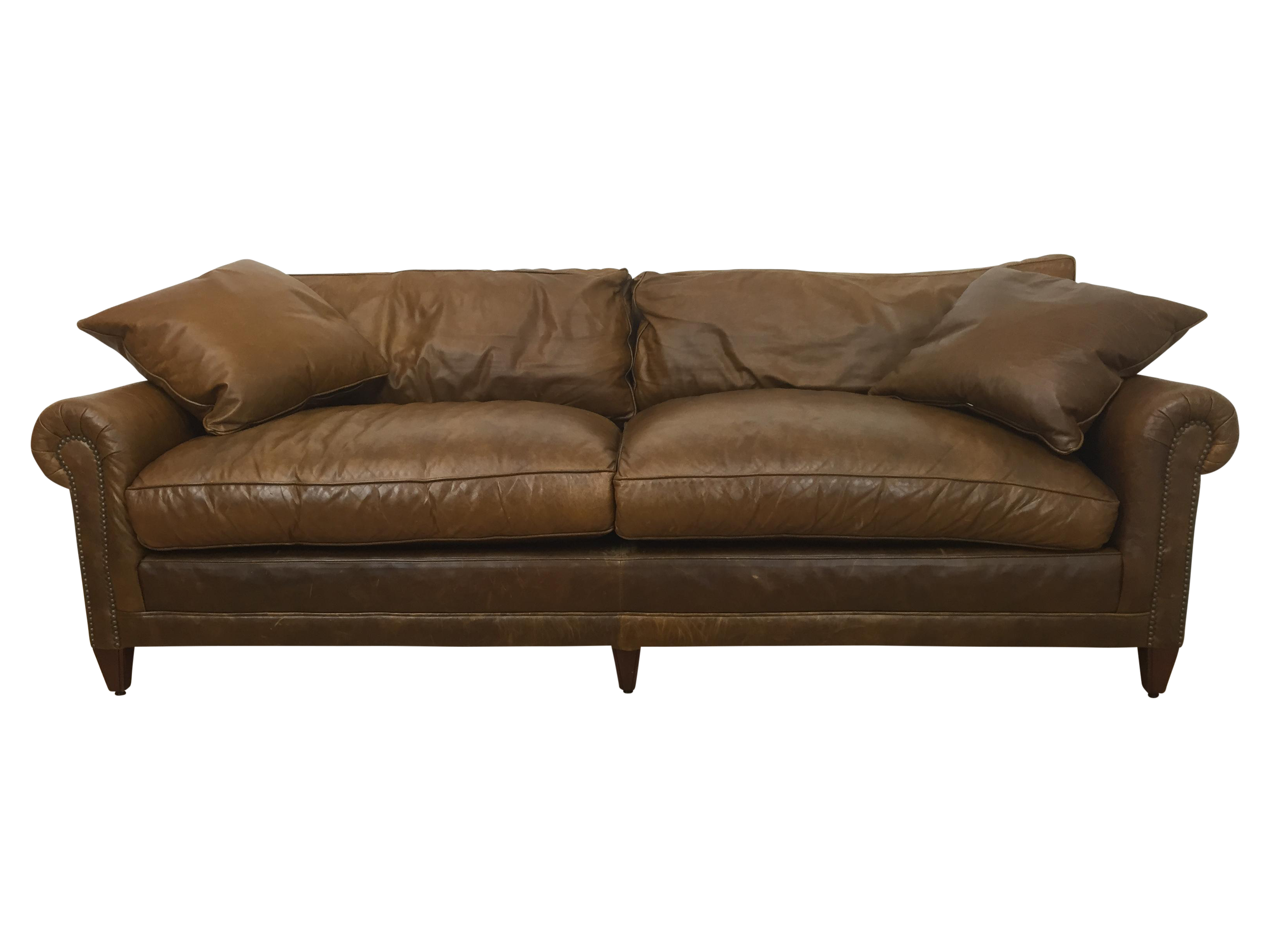 Ralph Lauren Macintyre Leather Nailhead Sofa