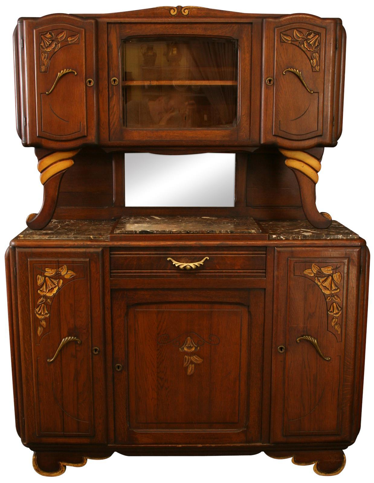 1920 art deco oak buffet chairish. Black Bedroom Furniture Sets. Home Design Ideas