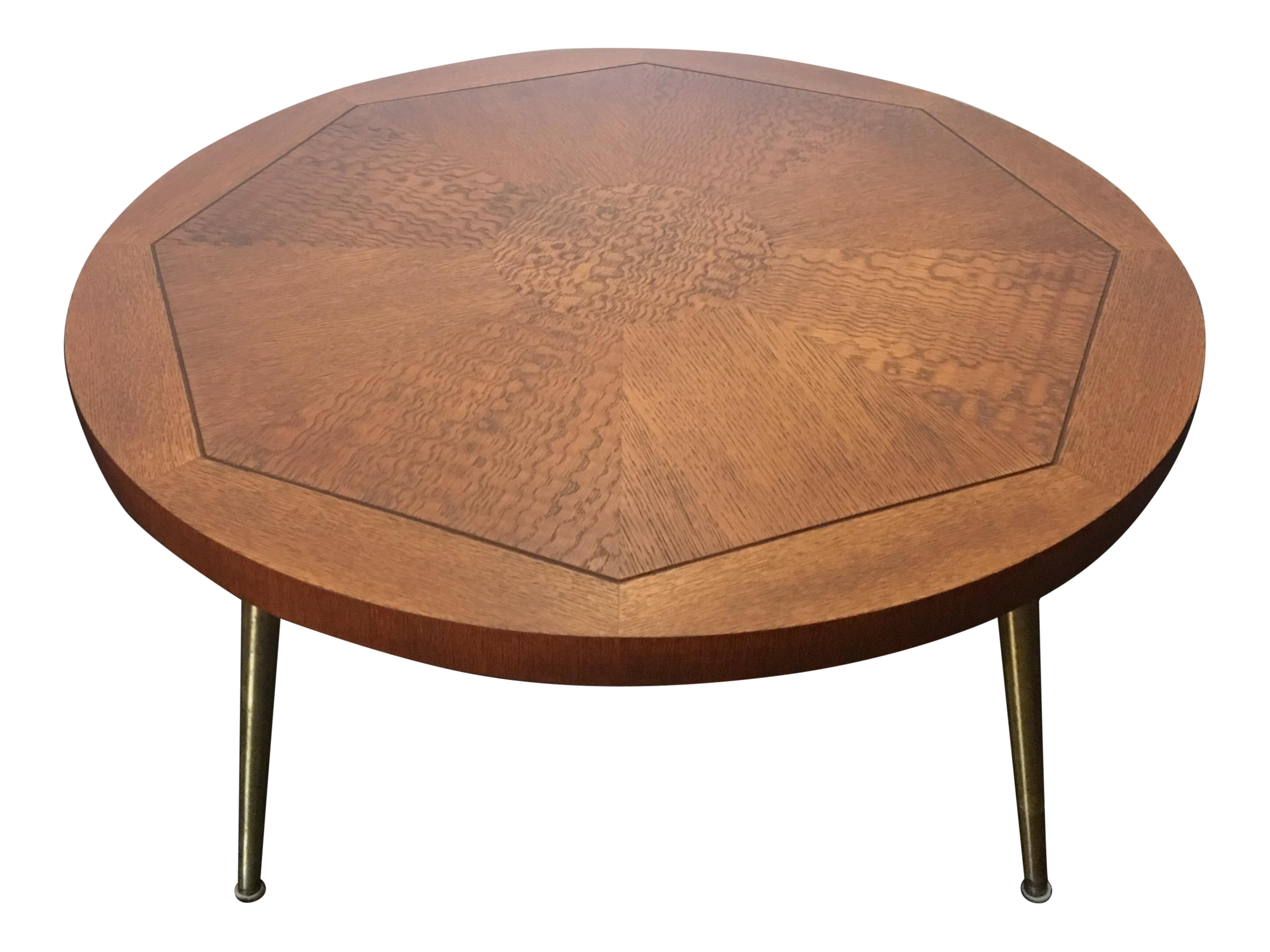 1954 Vintage Lane Walnut Parquetry Coffee Table with Brass Legs. Vintage   Used Lane Furniture   Decor   Chairish