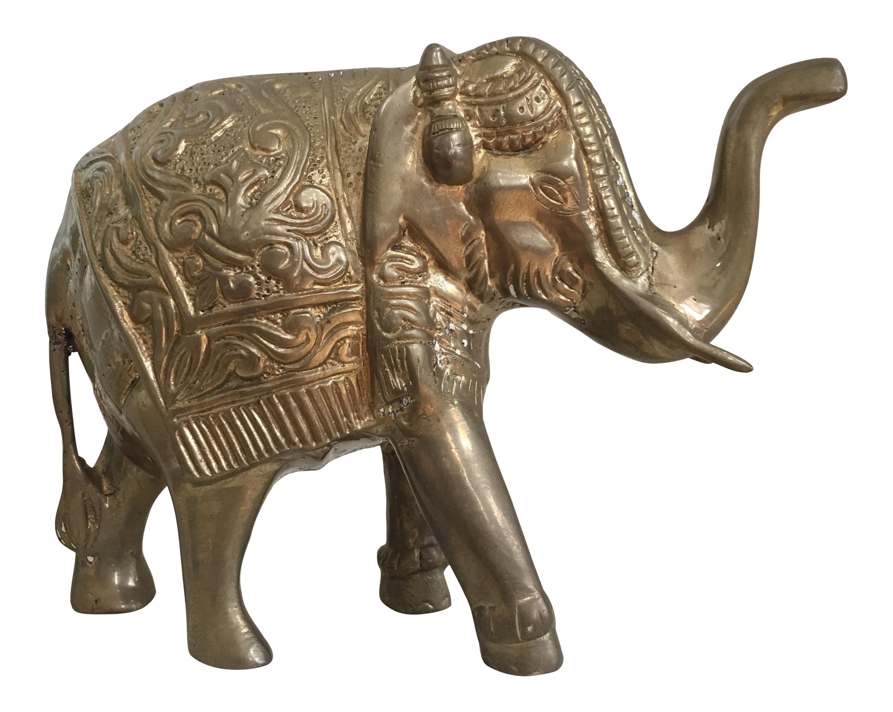Vintage Brass Elephant Chairish