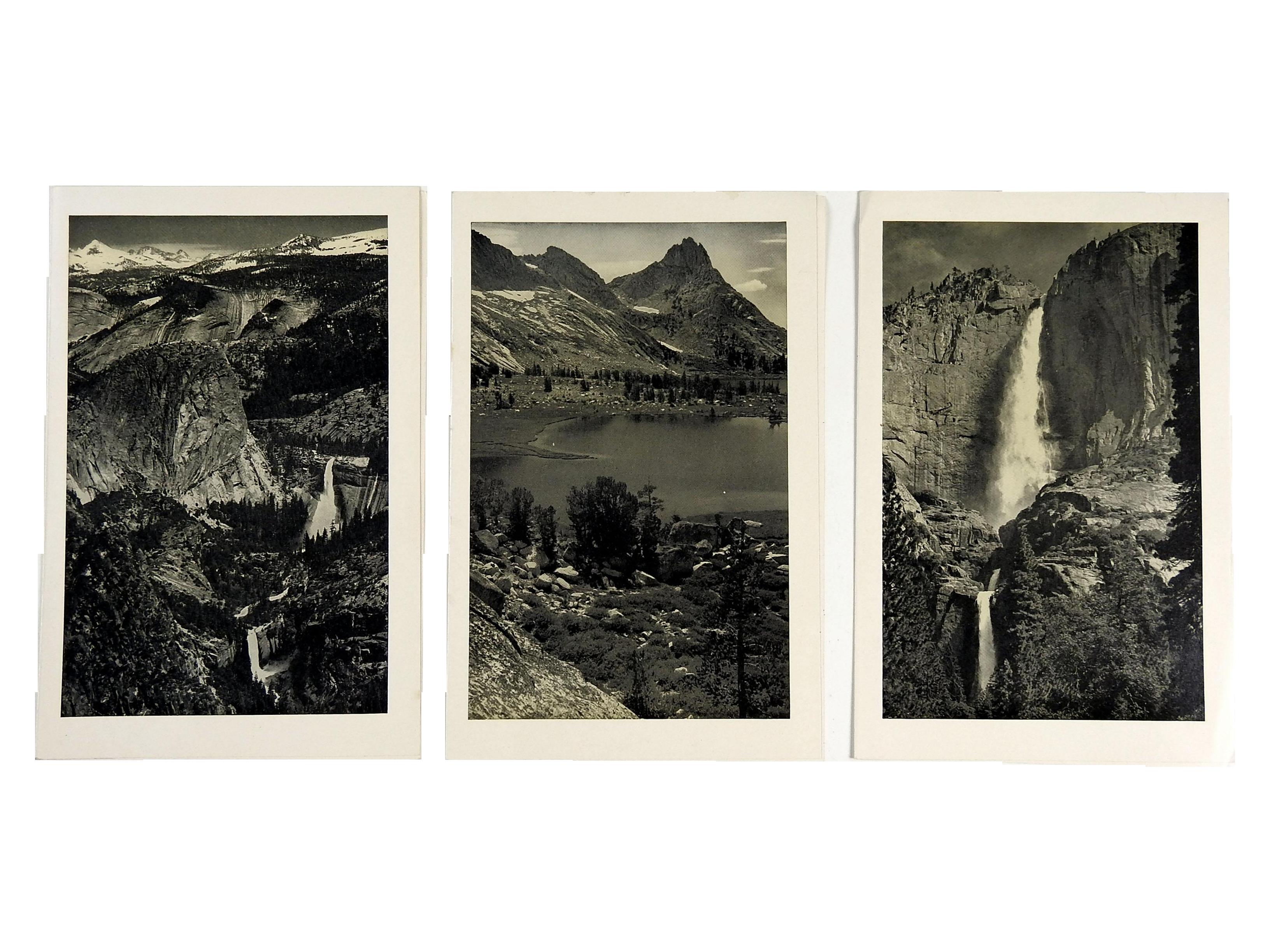 Vintage Yosemite Menus by Ansel Adams Set of 3