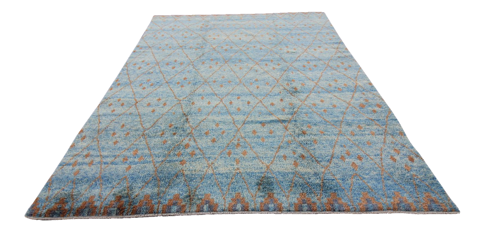 New Tribal Tulu Moroccan Shaggy Rug 8 5 Quot X 10 1 Quot Chairish