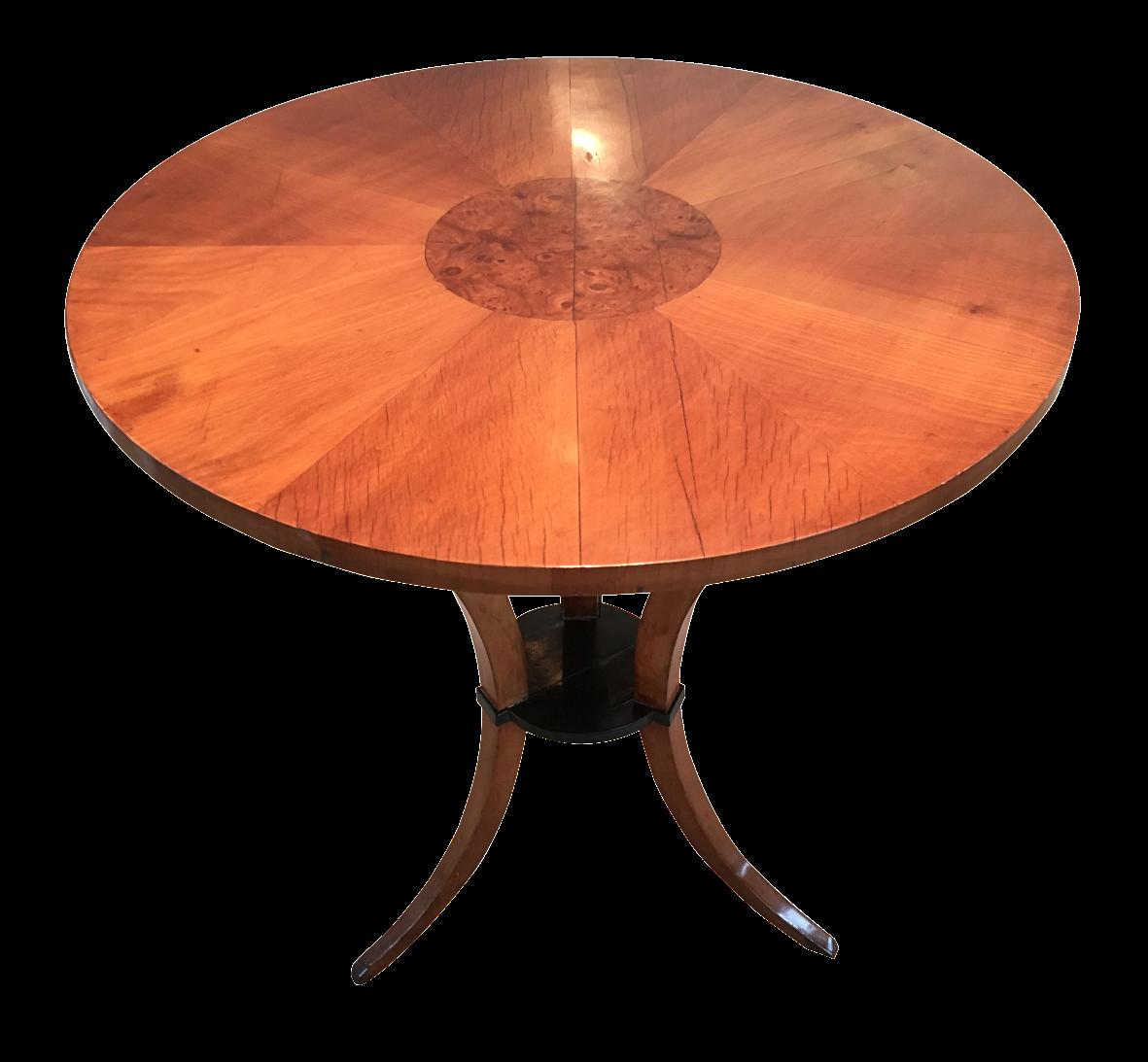 19th c austrian biedermeier center table chairish for Table th center