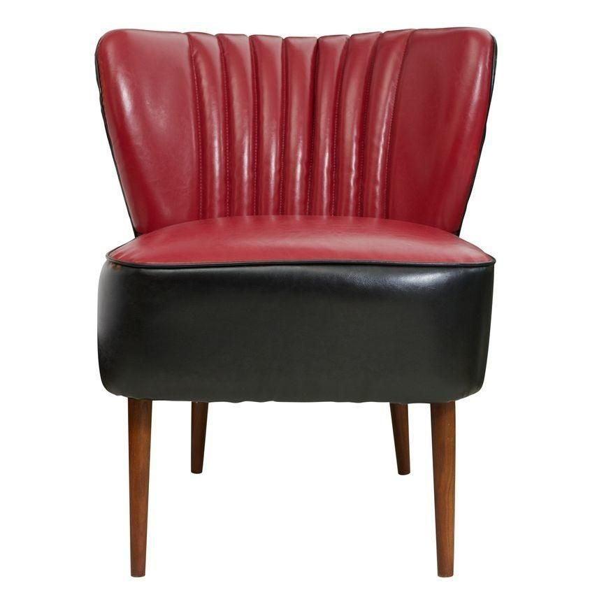 Red and Black Jaxon Sofa Chair