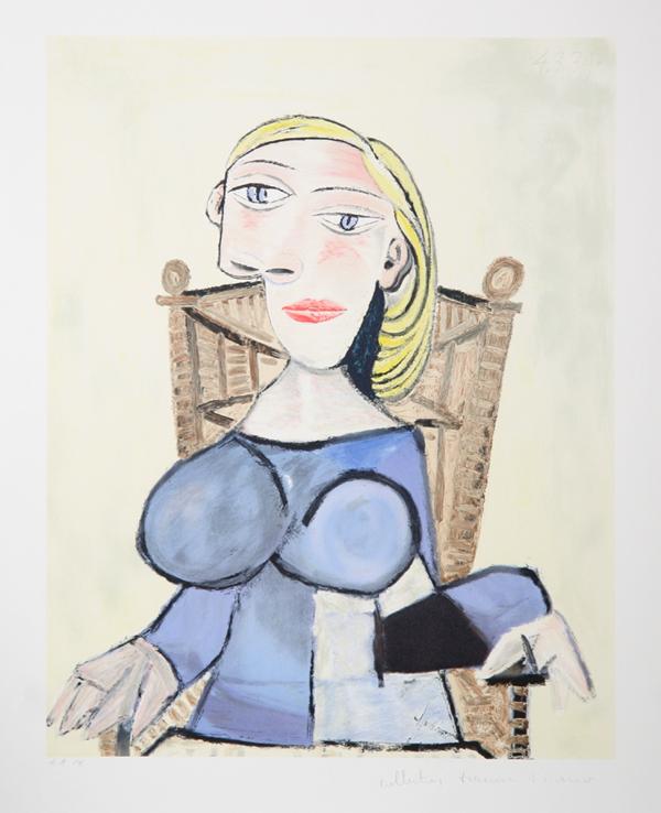 Pablo Picasso Femme Blonde Lithograph Chairish
