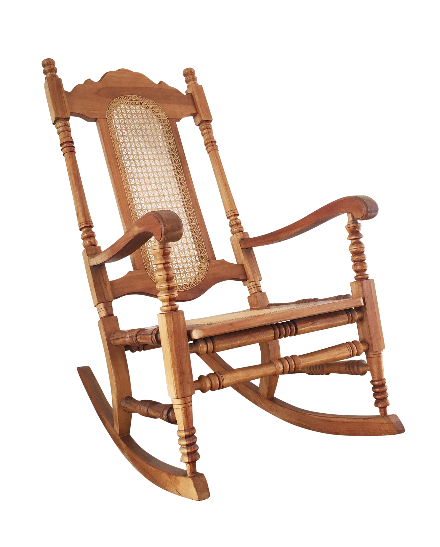 Wonderful Image Of Vintage Wood Cane Rocking Chair Chairish With 956736 Color And 1811x2252