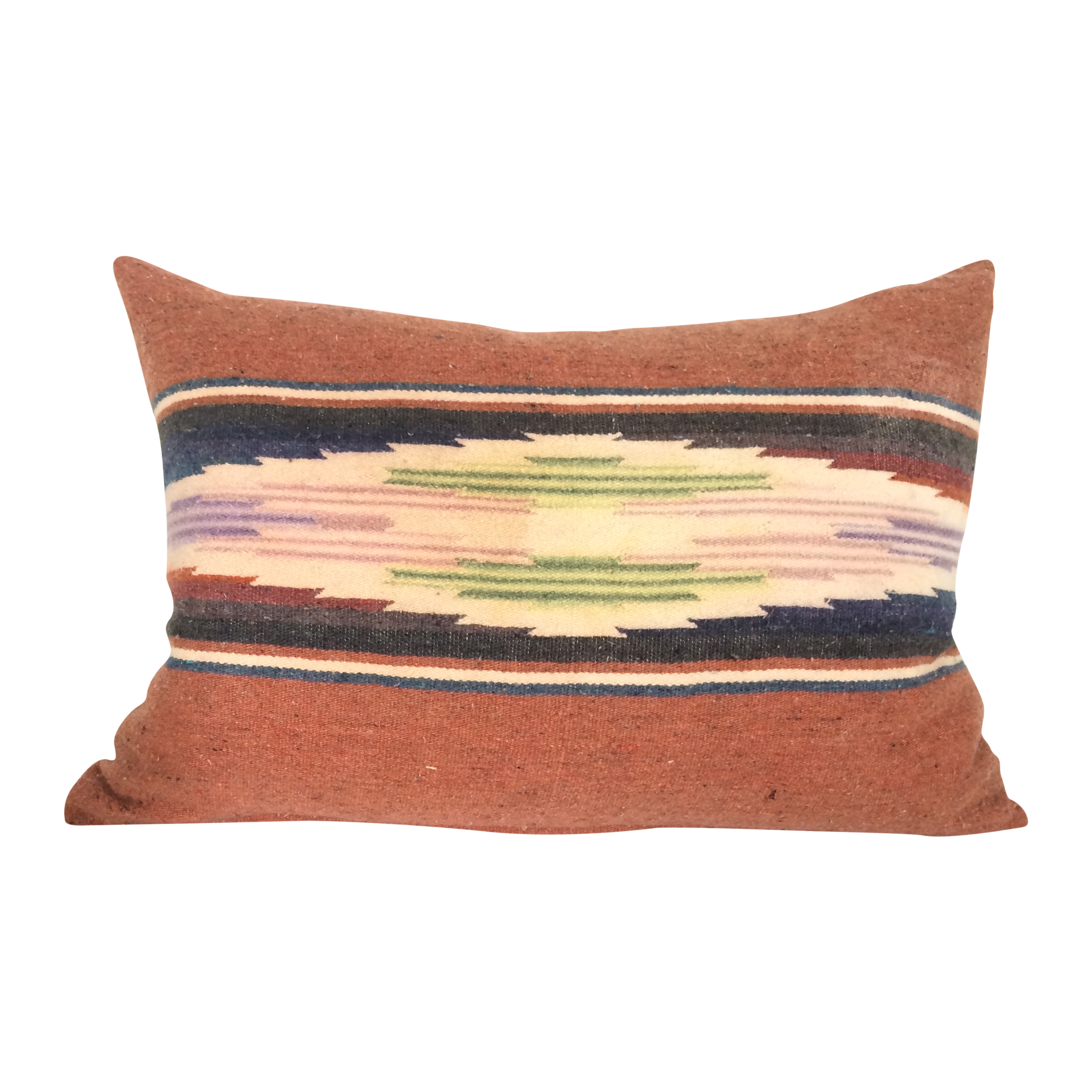 Sun Washed Rust Colored Vintage Saltillo Pillow Chairish
