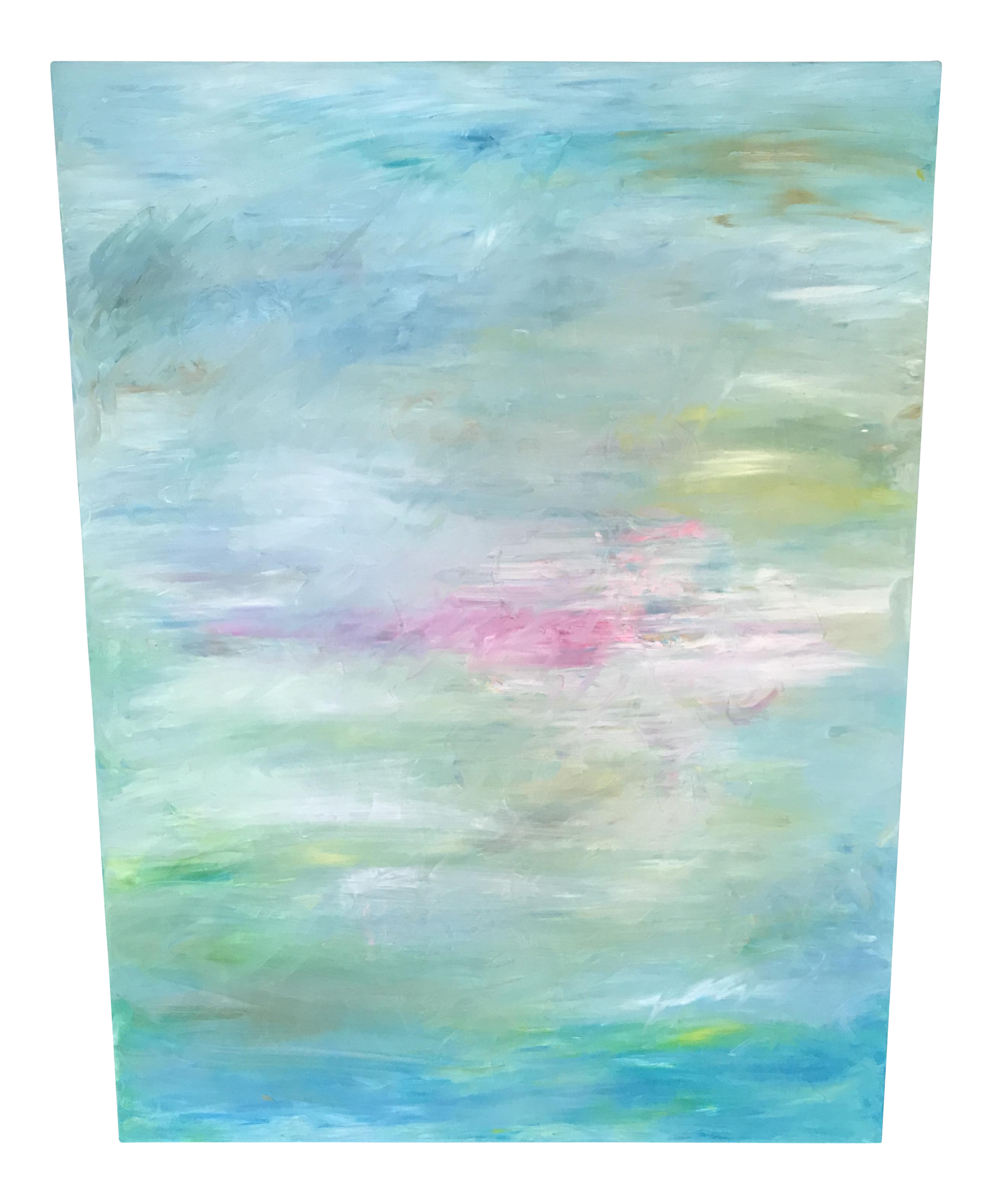 Modern Abstract Pastel Oil Painting   Chairish