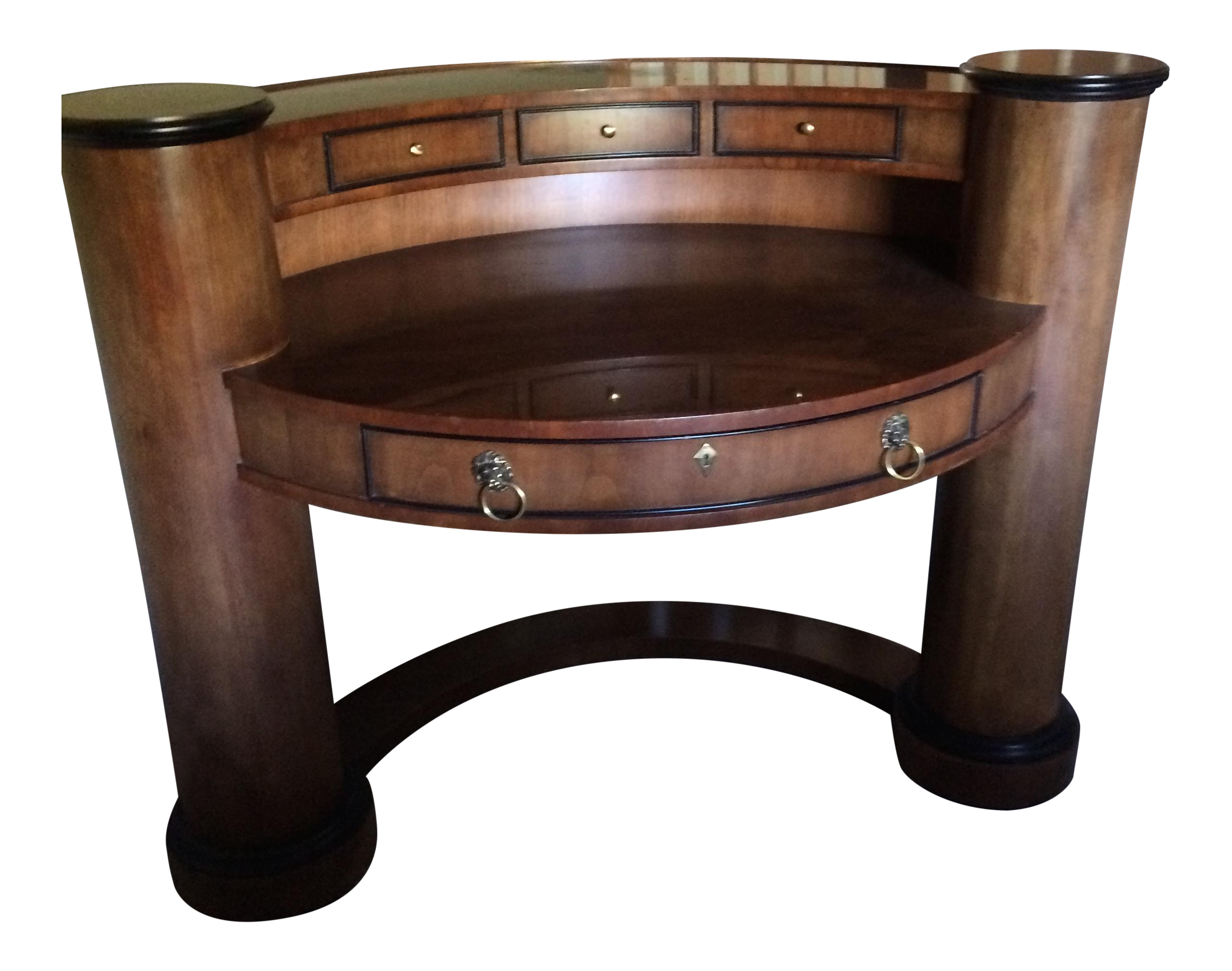 Half Round Quot Century Quot Writing Desk Chairish