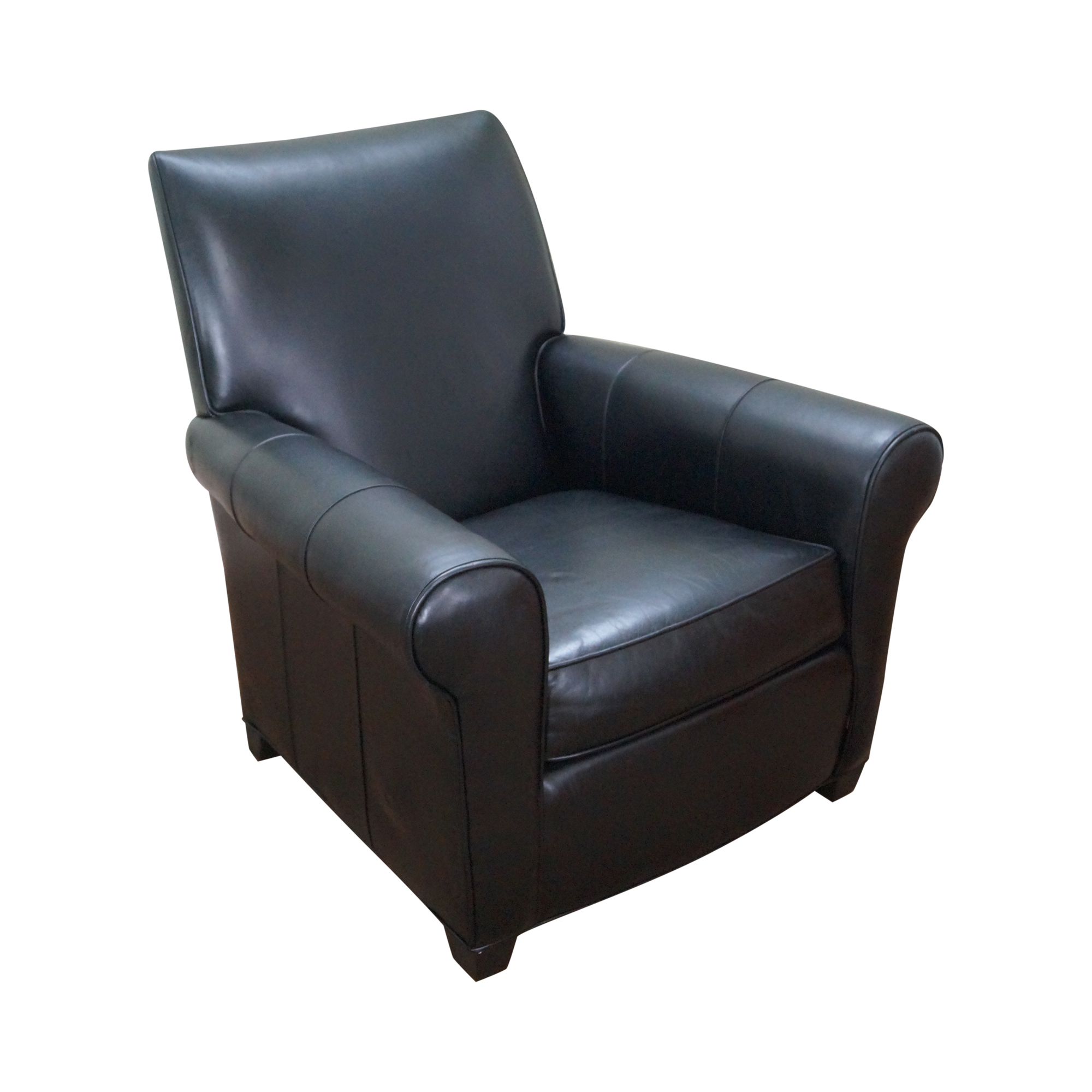 Living Room Lounge Chairs Ethan Allen Black Leather Living Room Lounge Chair Chairish