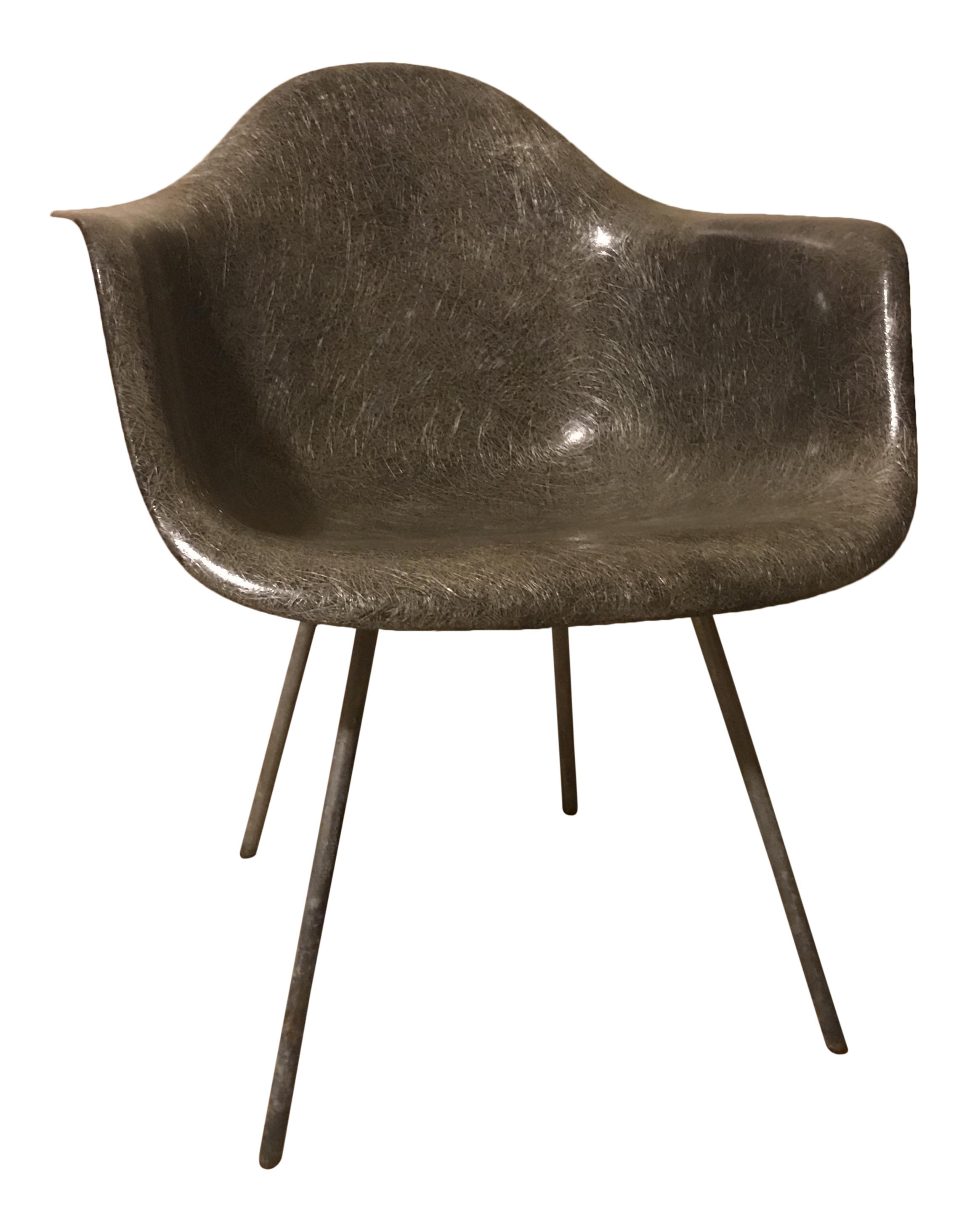 Art deco desk chairs - Eames Elephant Grey 1st Generation Rope Edge Chair