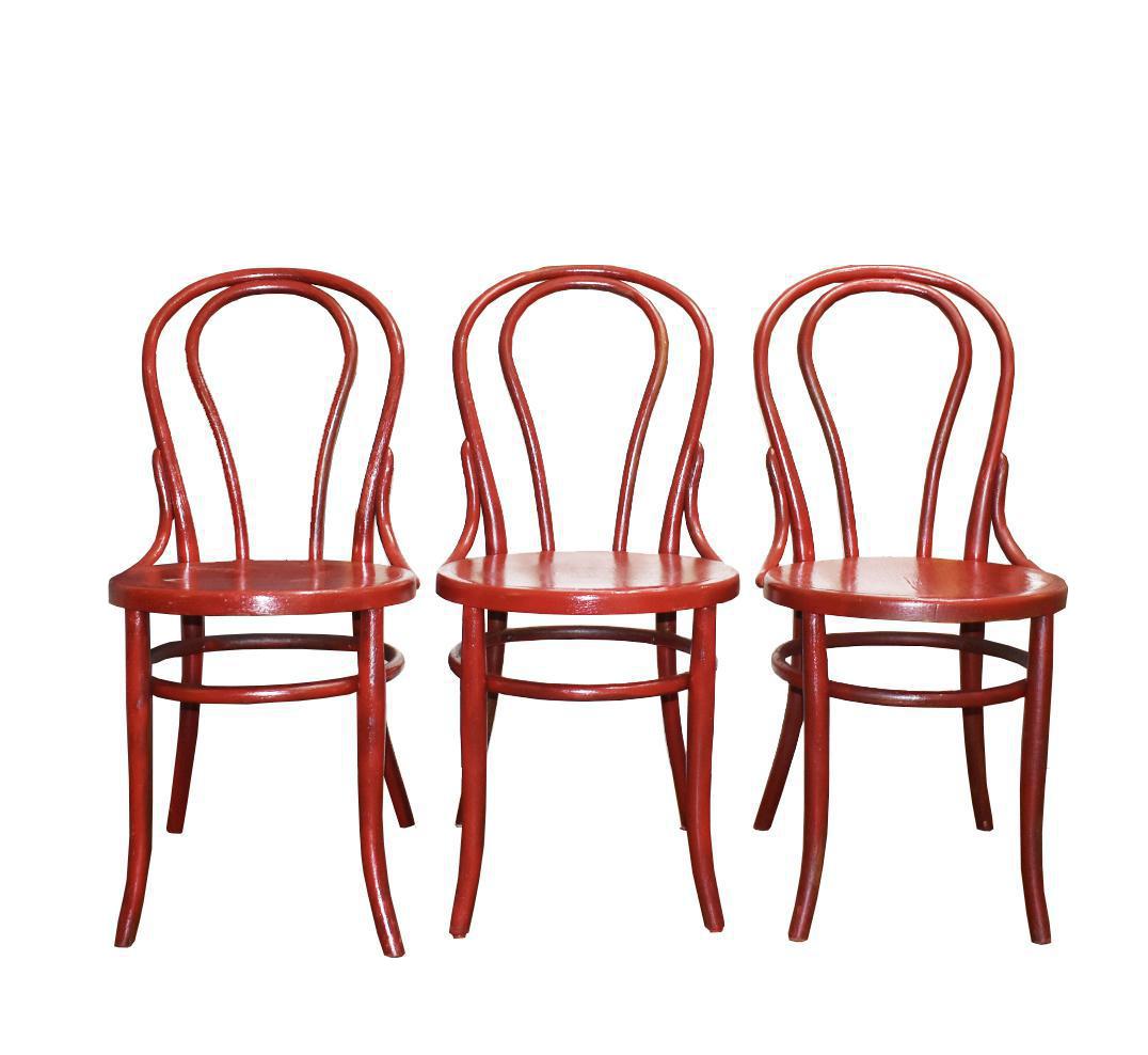 Heywood Wakefield Bentwood Chairs Set Of 3 Chairish