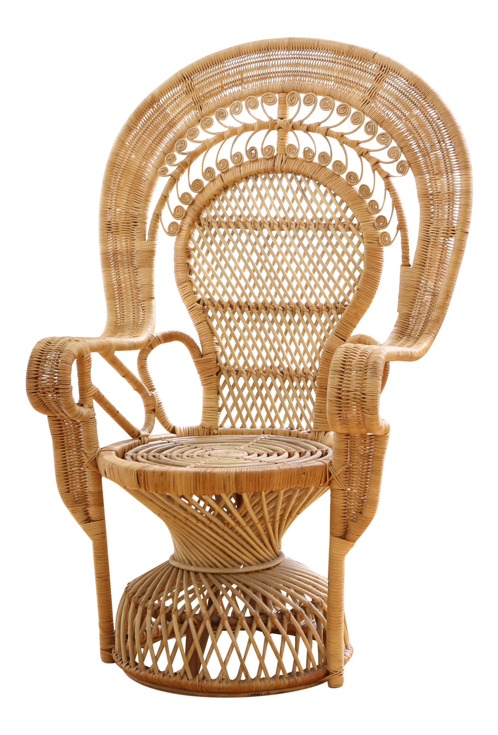 Vintage Rattan And Wicker Peacock Chair Chairish
